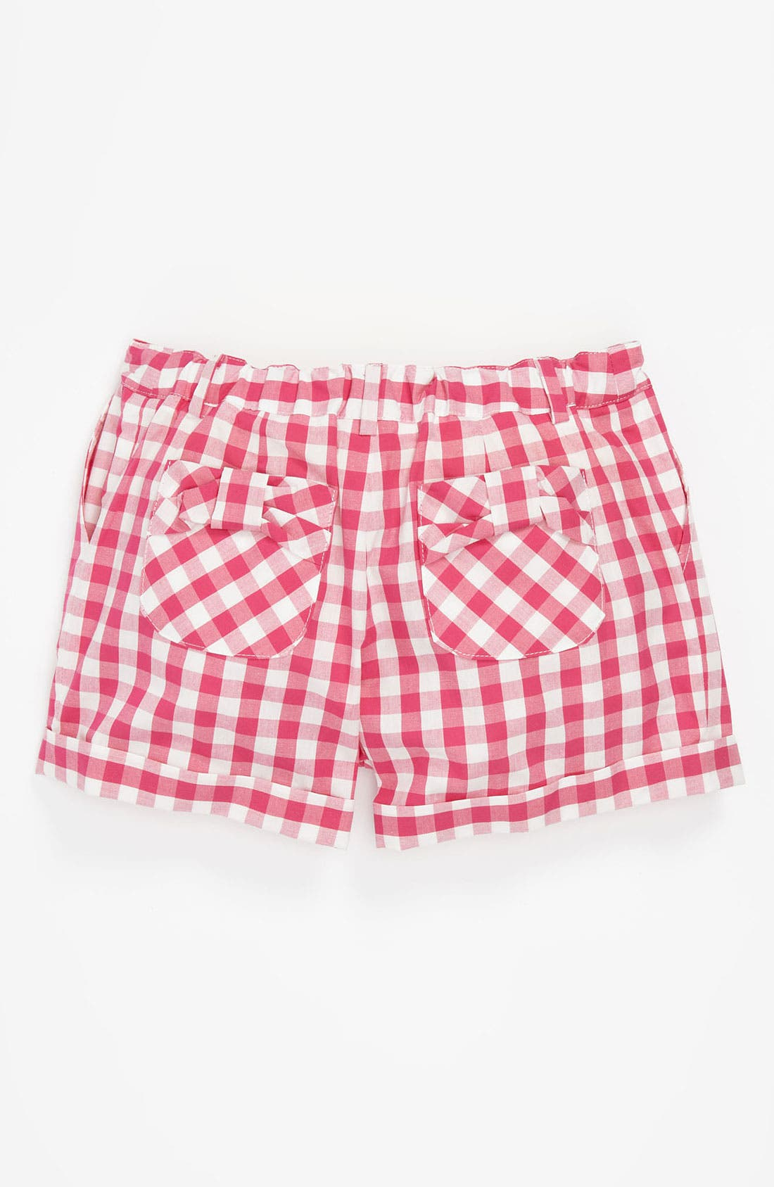 Alternate Image 2  - Milly Minis Vichy Check Bow Pocket Shorts (Little Girls & Big Girls)