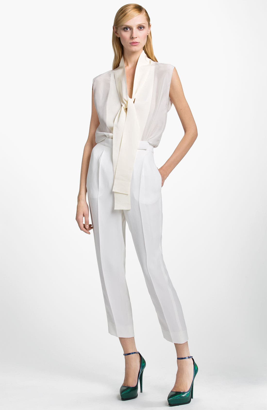 Alternate Image 1 Selected - Lanvin Sleeveless Tie Neck Blouse