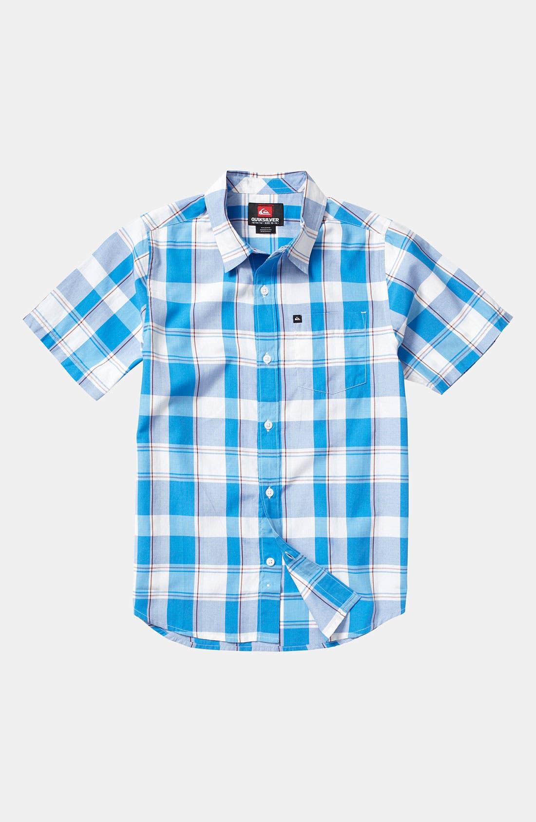 Main Image - Quiksilver Plaid Shirt (Little Boys)
