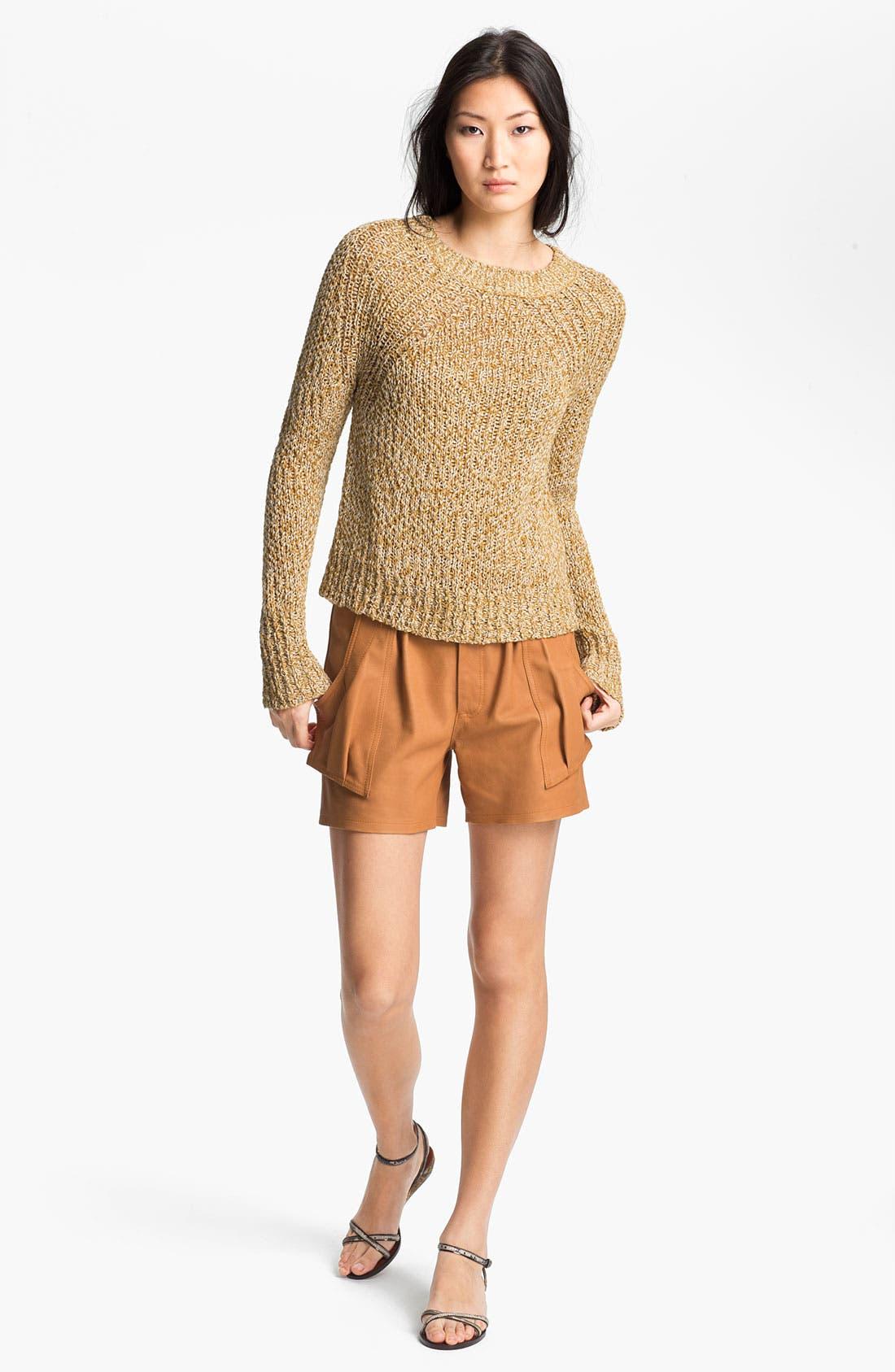 Alternate Image 4  - A.L.C. 'Cash' Leather Shorts