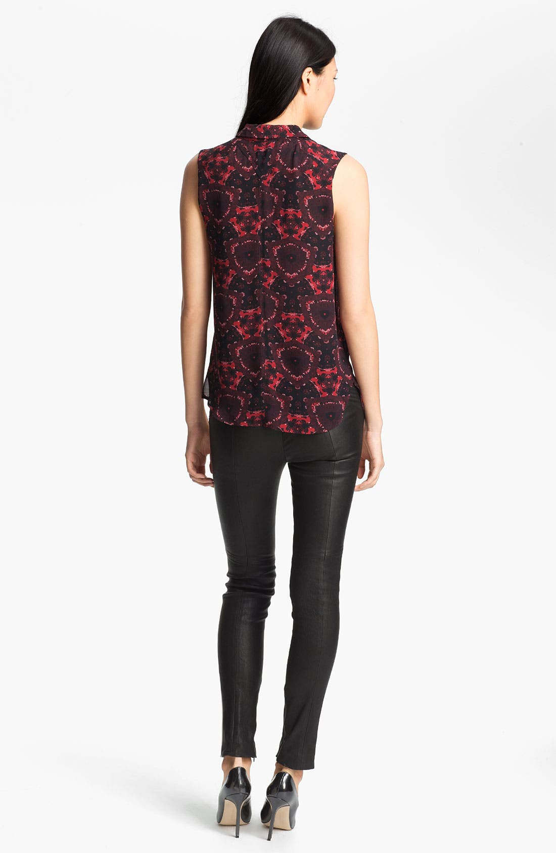 Alternate Image 4  - A.L.C. 'Mackay' Print Silk Top
