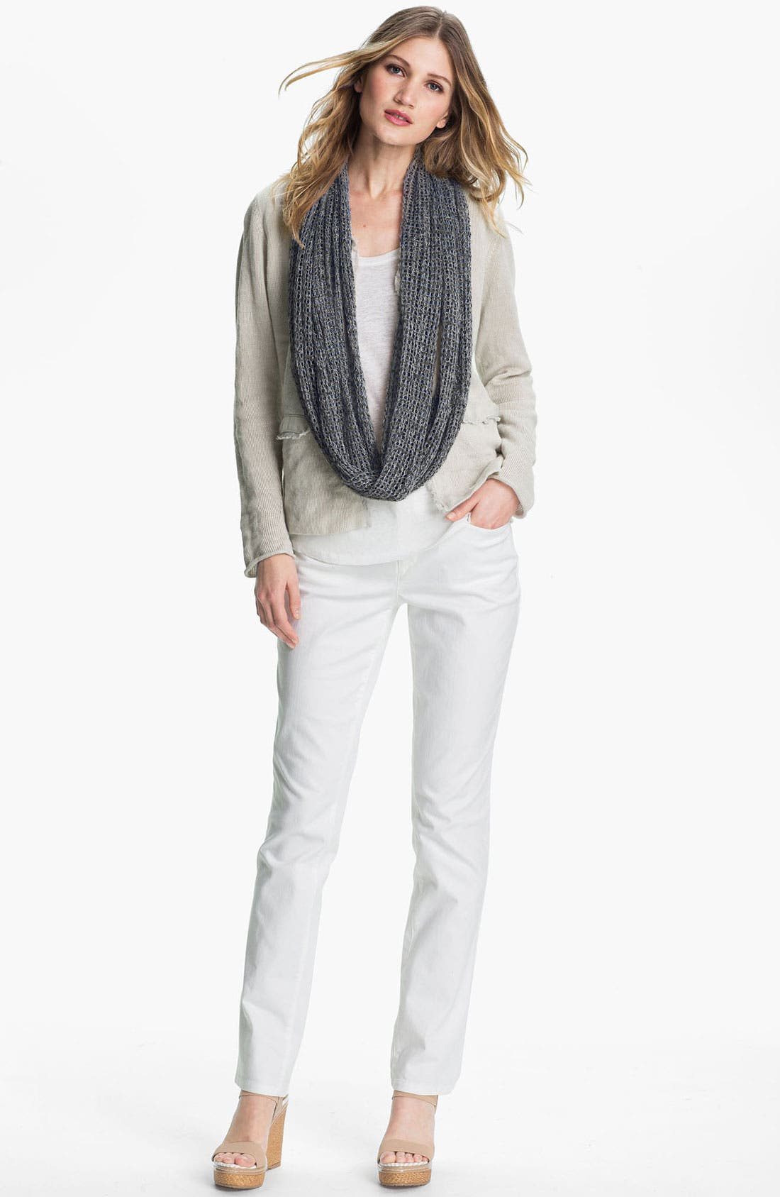 Alternate Image 4  - Eileen Fisher Linen Scarf