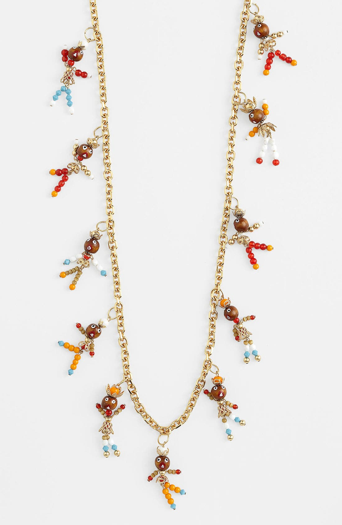 Alternate Image 1 Selected - Tory Burch Long Charm Station Necklace