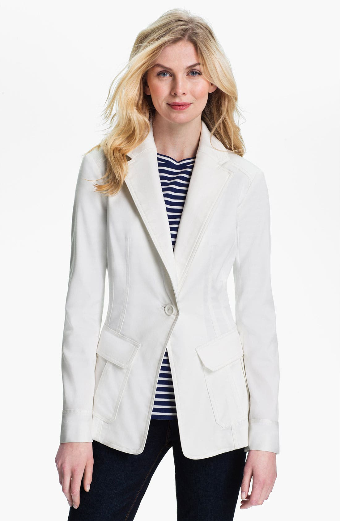 Alternate Image 1 Selected - Isaac Mizrahi Jeans 'Blair' Blazer (Online Exclusive)