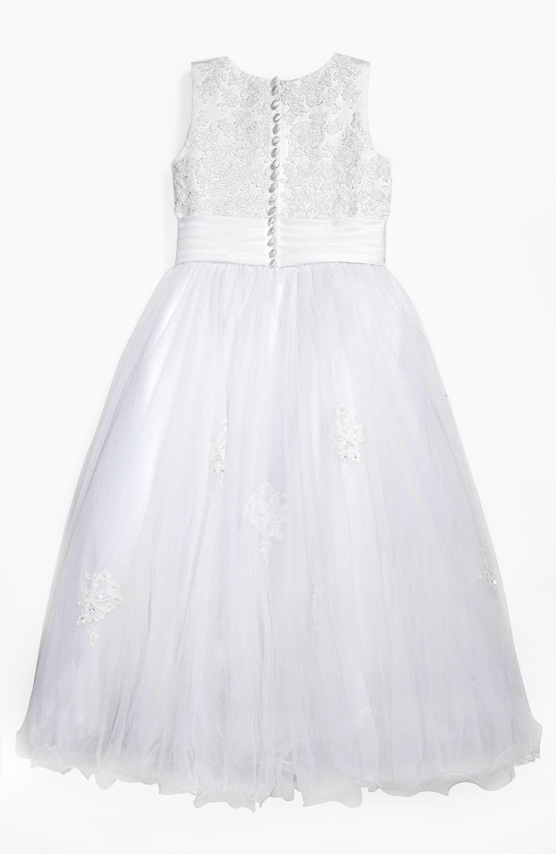 Alternate Image 2  - Joan Calabrese for Mon Cheri Lace Dress (Little Girls & Big Girls)