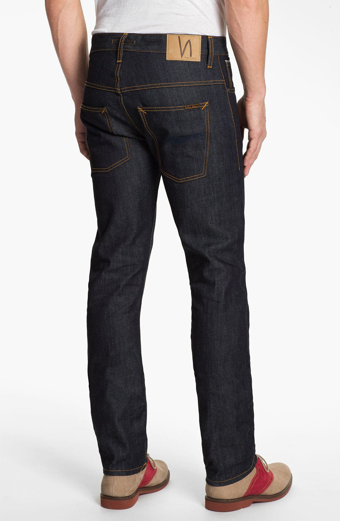 Alternate Image 1 Selected - Nudie 'Thin Finn' Slim Skinny Leg Jeans (Organic Dry Heavy Selvedge)