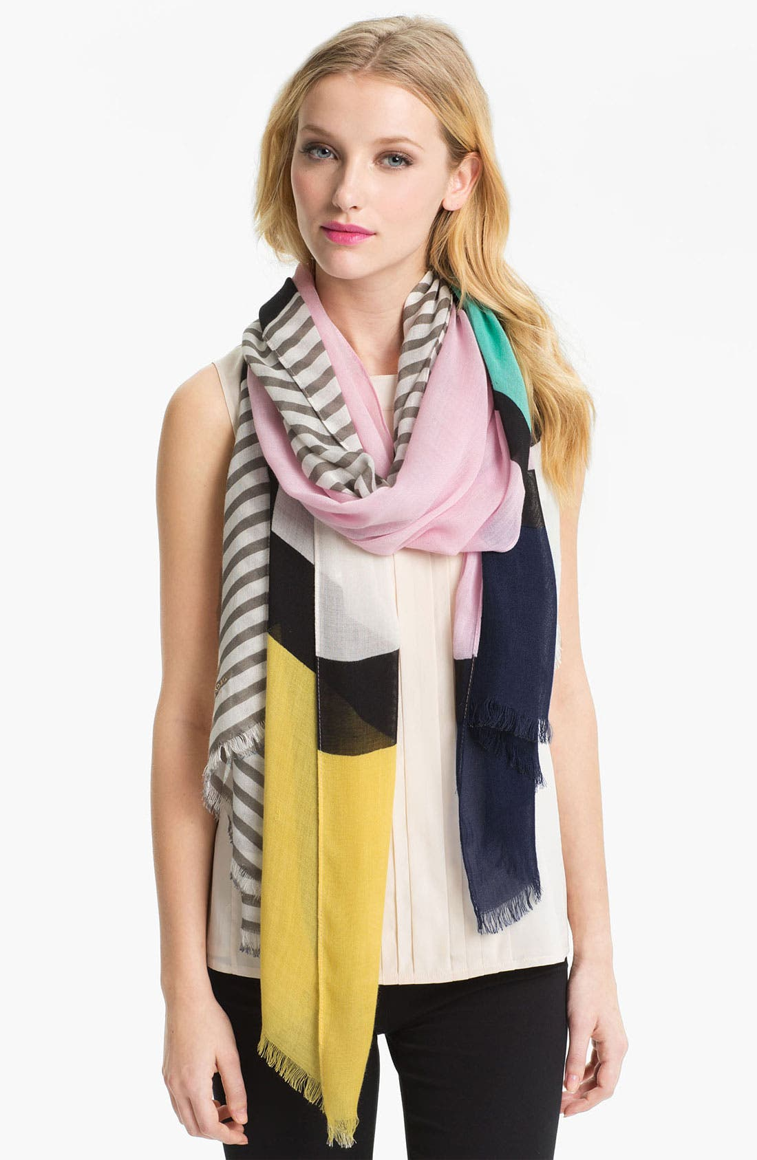 Alternate Image 1 Selected - kate spade new york 'spring mondrian' scarf