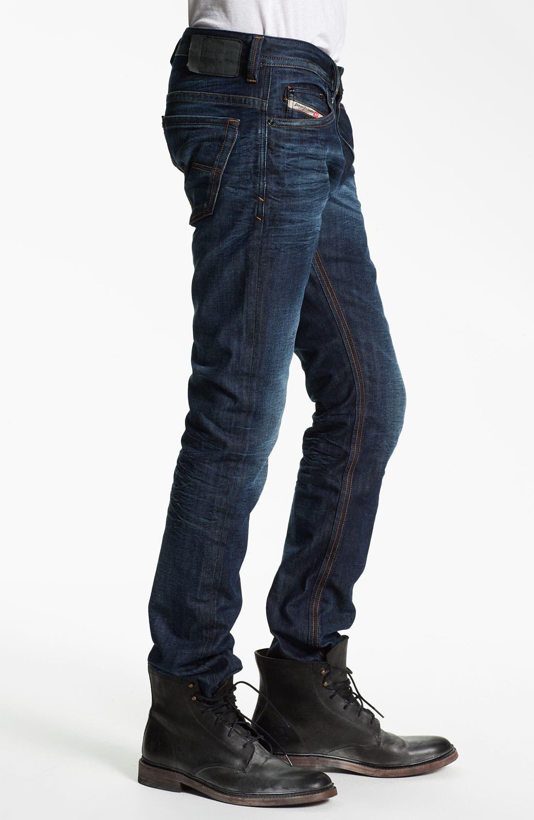 Alternate Image 3  - DIESEL® 'Thavar' Slim Skinny Leg Jeans (0806U)