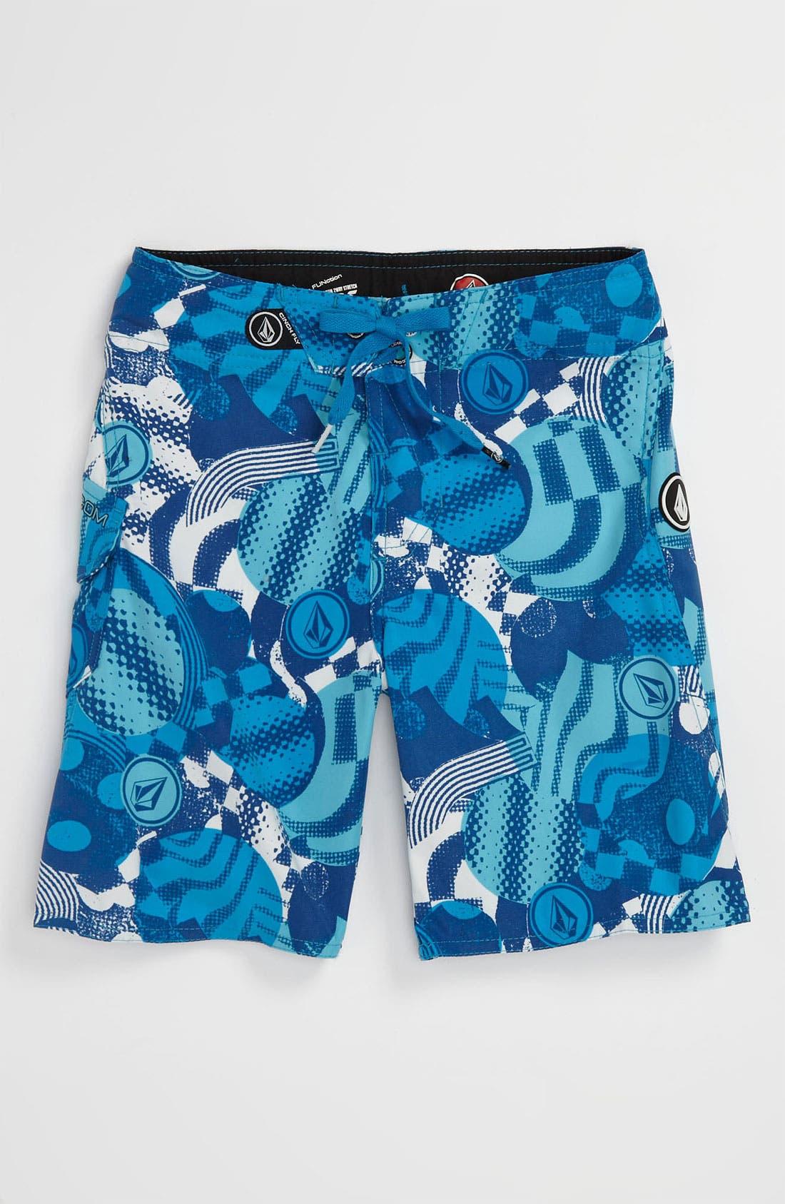 Alternate Image 1 Selected - Volcom 'Maguro Circles' Board Shorts (Little Boys)