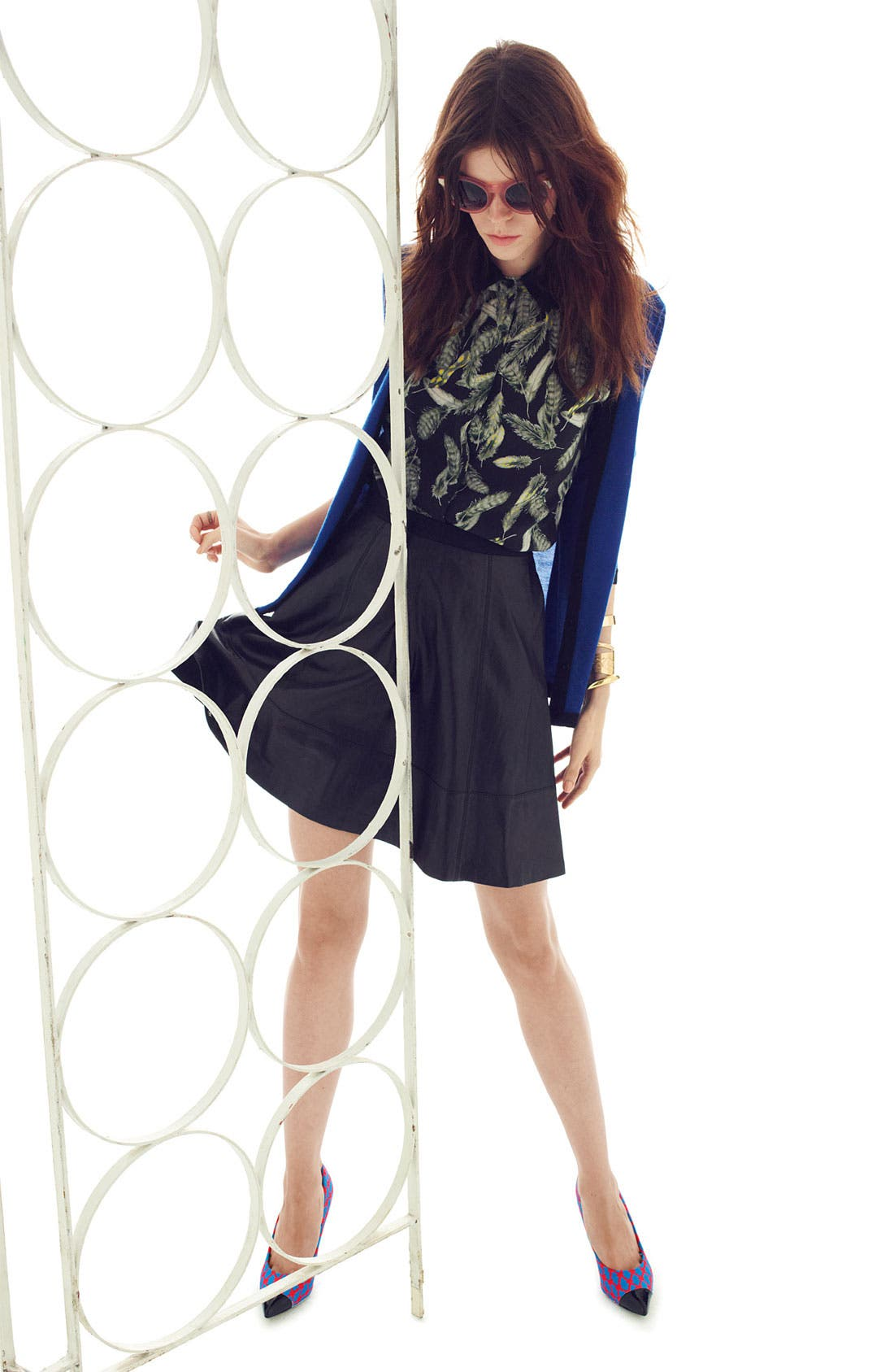Alternate Image 5  - Miss Wu 'Sofie' Color Tipped Cashmere Cardigan (Nordstrom Exclusive)