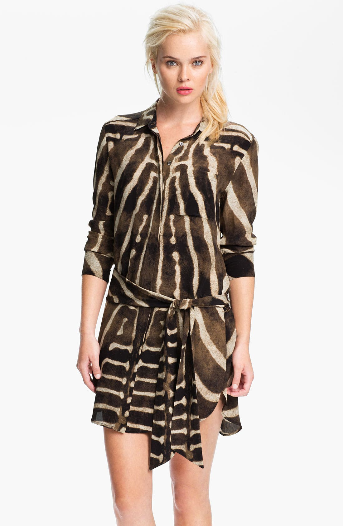 Alternate Image 1 Selected - Haute Hippie Print Silk Shirtdress