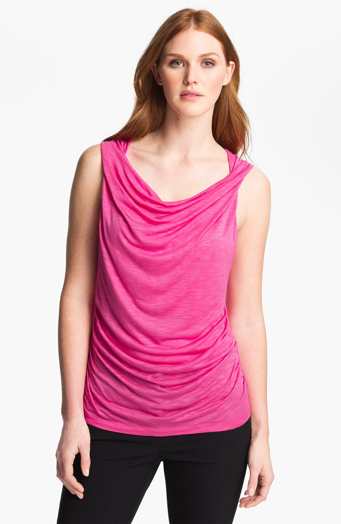 Main Image - Adrianna Papell Sleeveless Jersey Top