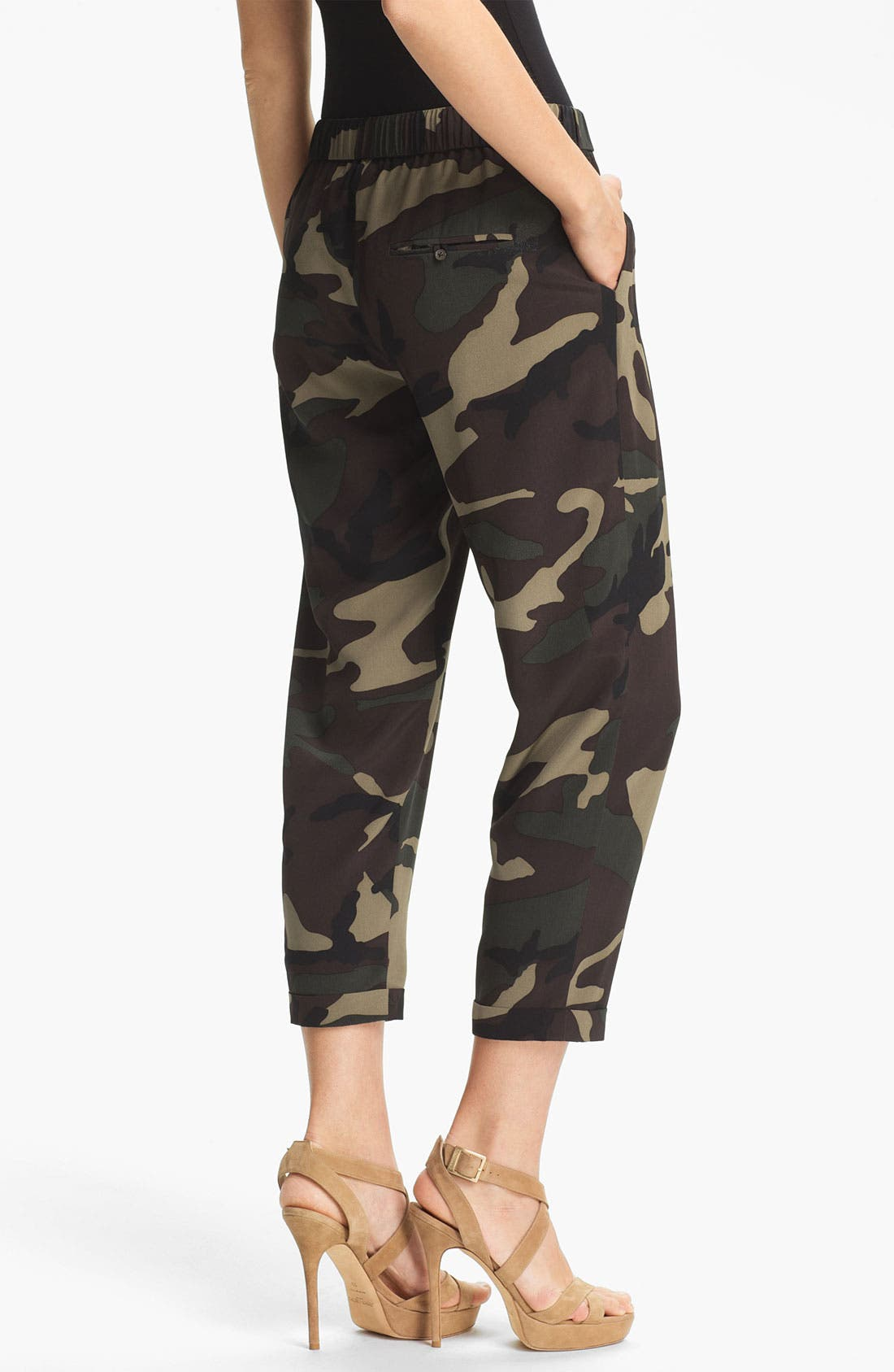 Alternate Image 2  - Haute Hippie Camo Print Drawstring Trousers