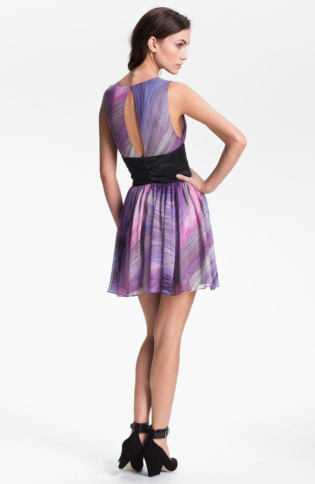 Alternate Image 2  - Elizabeth and James 'Jana' Print Silk Chiffon Dress