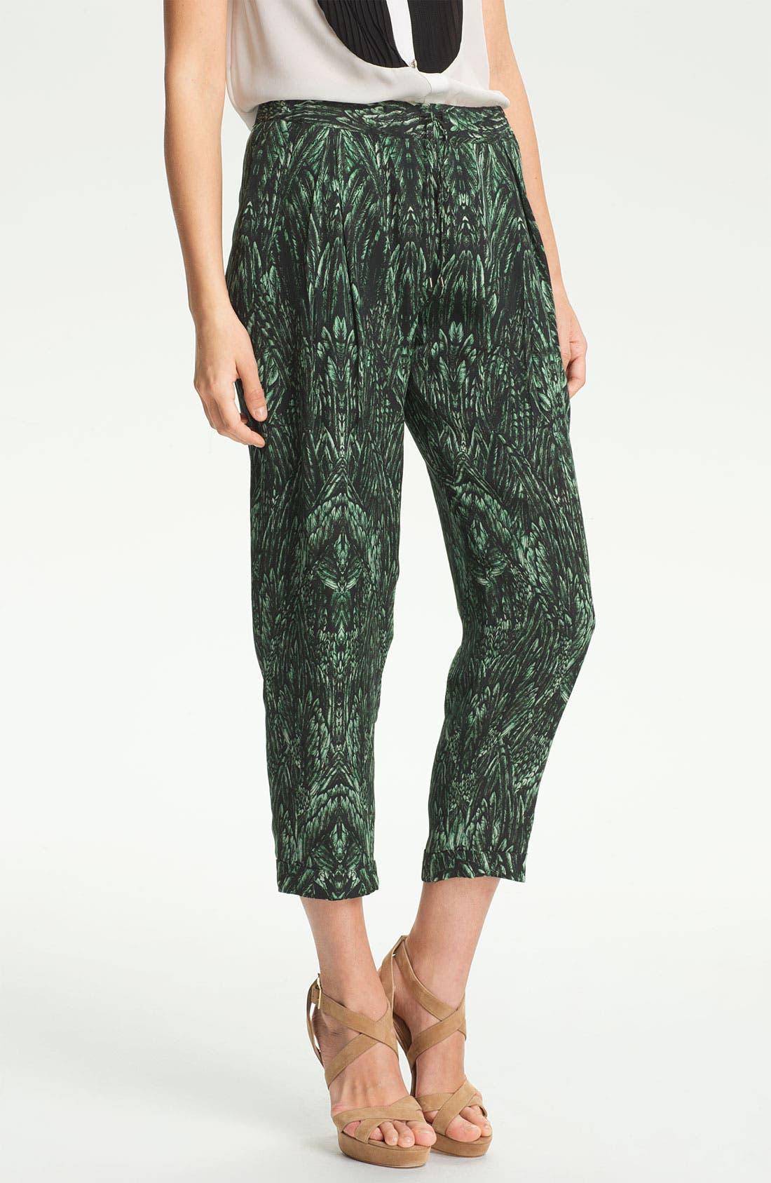 Alternate Image 1 Selected - Haute Hippie Print Drawstring Trousers