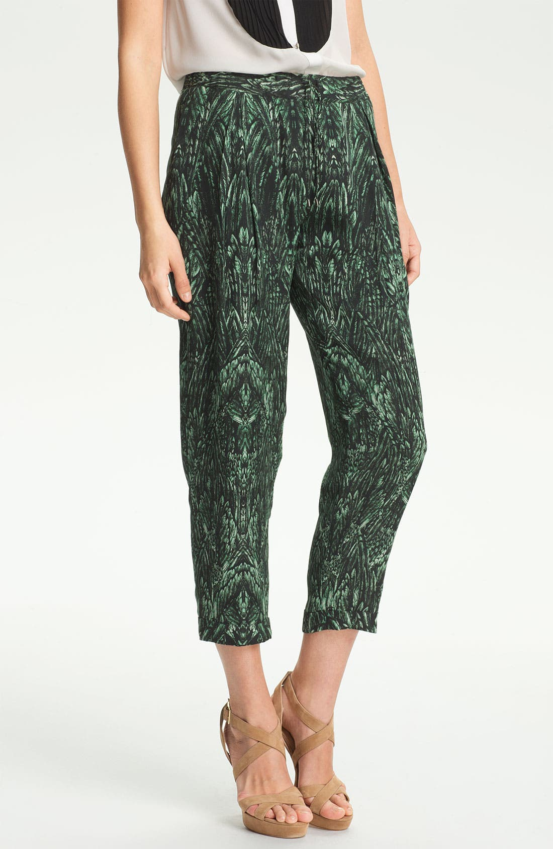 Main Image - Haute Hippie Print Drawstring Trousers