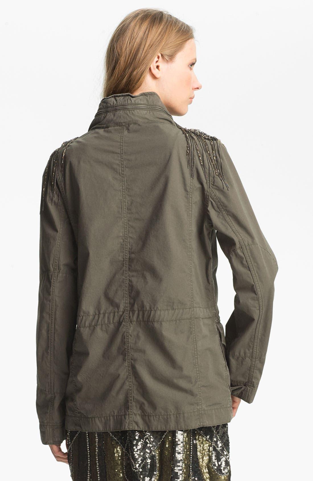 Alternate Image 3  - Haute Hippie Sequin Shoulder Military Jacket