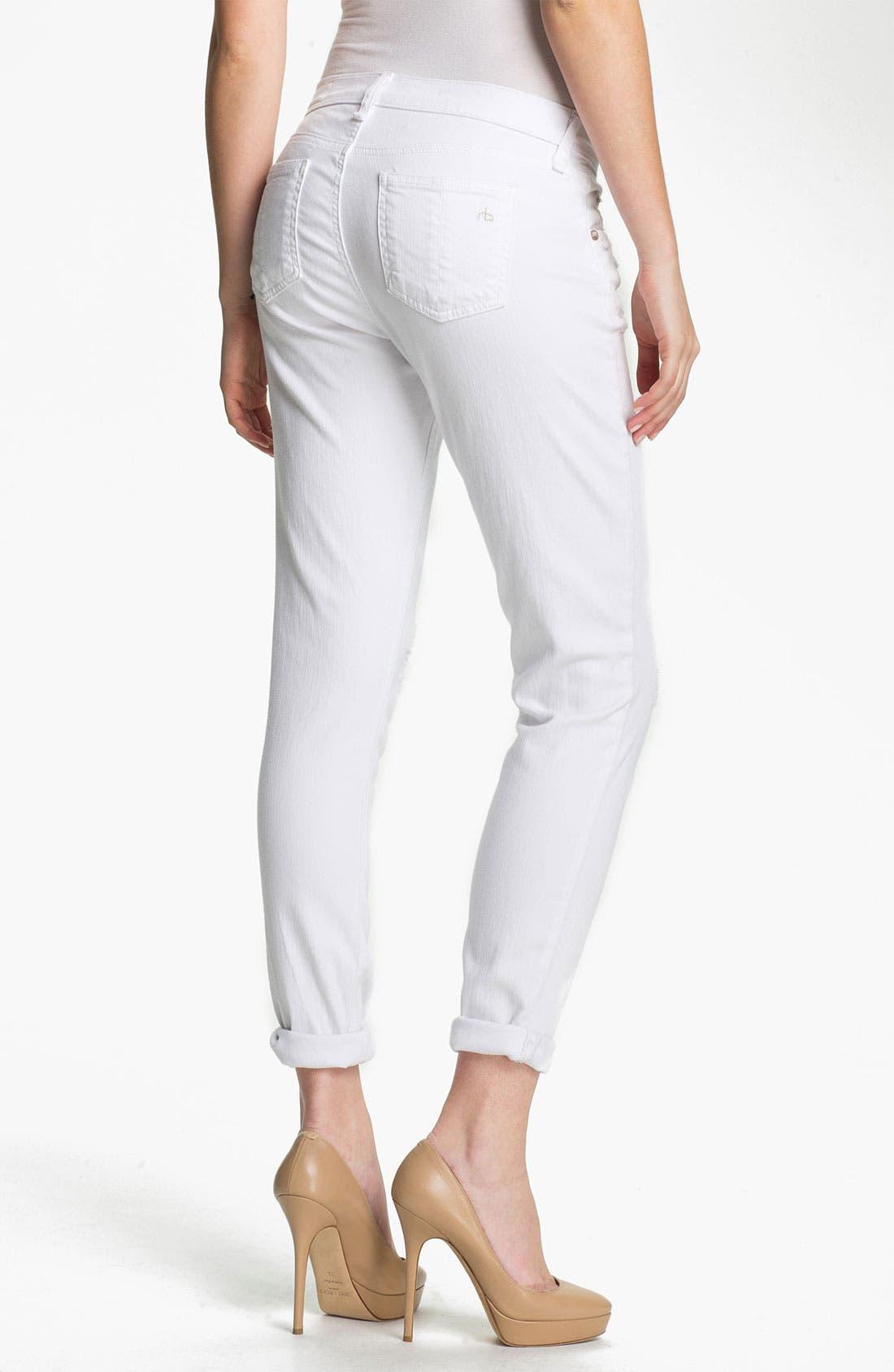 Alternate Image 2  - rag & bone/JEAN 'The Dash' Slouchy Skinny Jeans