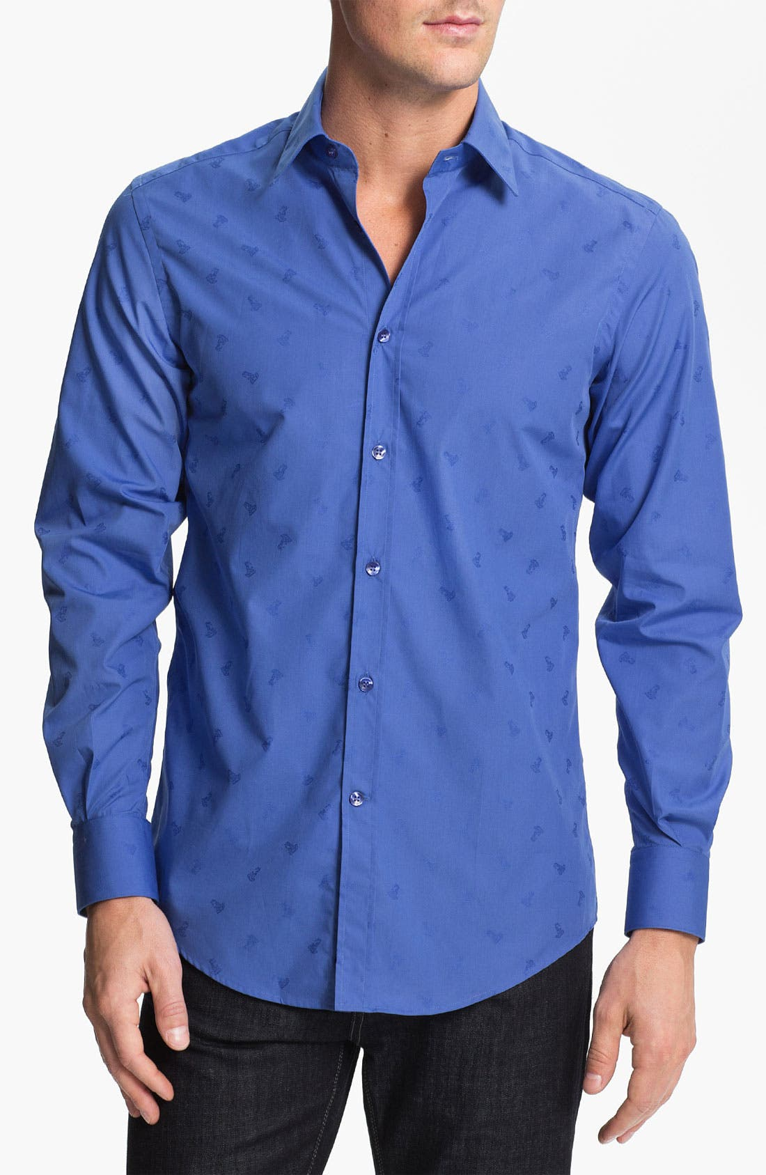Alternate Image 1 Selected - Versace Woven Sport Shirt (Online Only)