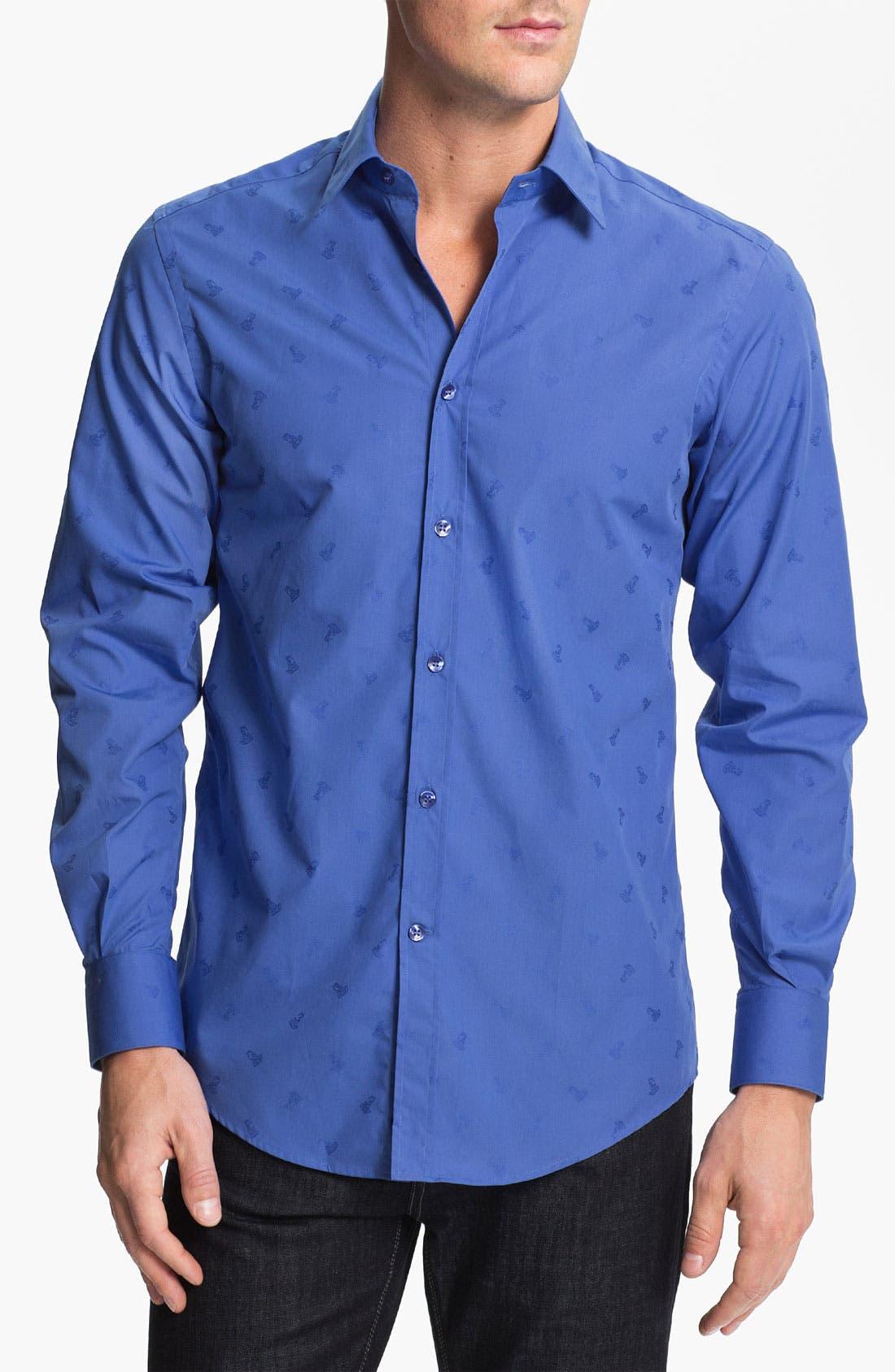 Main Image - Versace Woven Sport Shirt (Online Only)