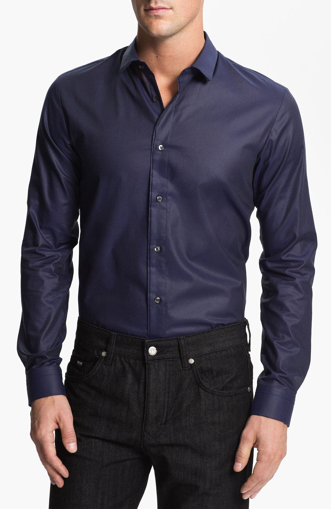 Alternate Image 1 Selected - HUGO 'Etti' Slim Fit Sport Shirt