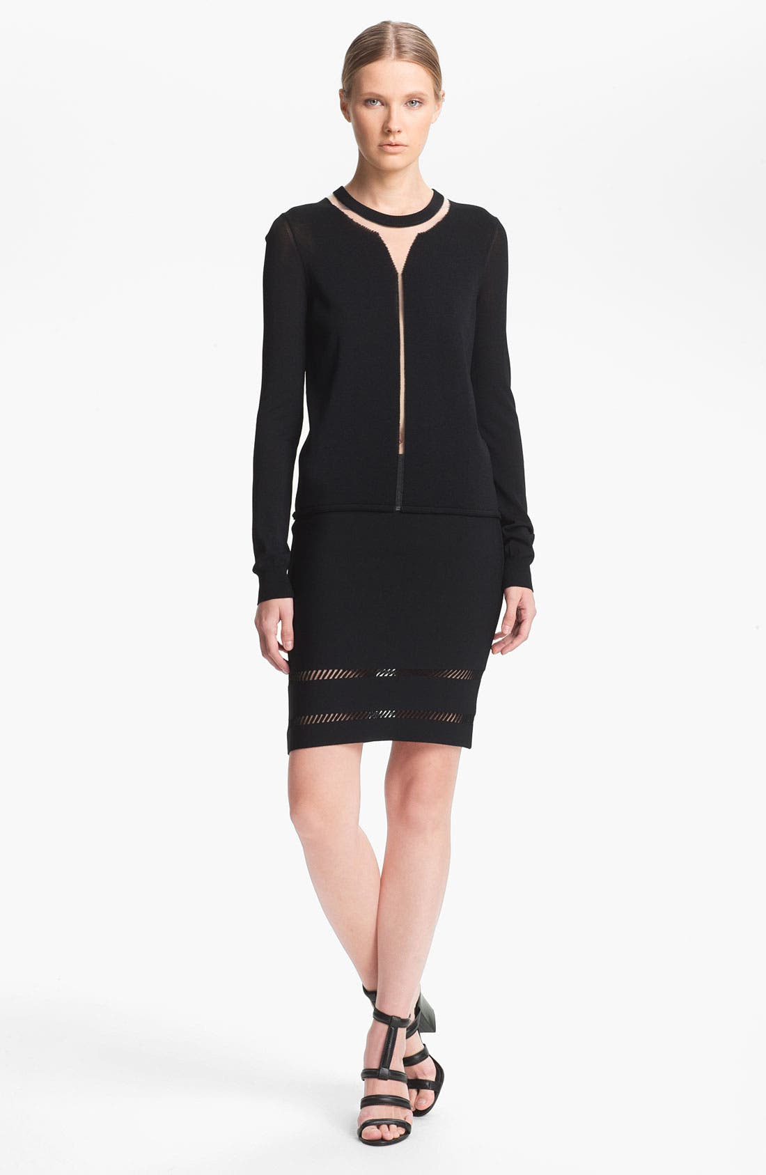 Alternate Image 1 Selected - Alexander Wang 'Floating Spine' Pullover