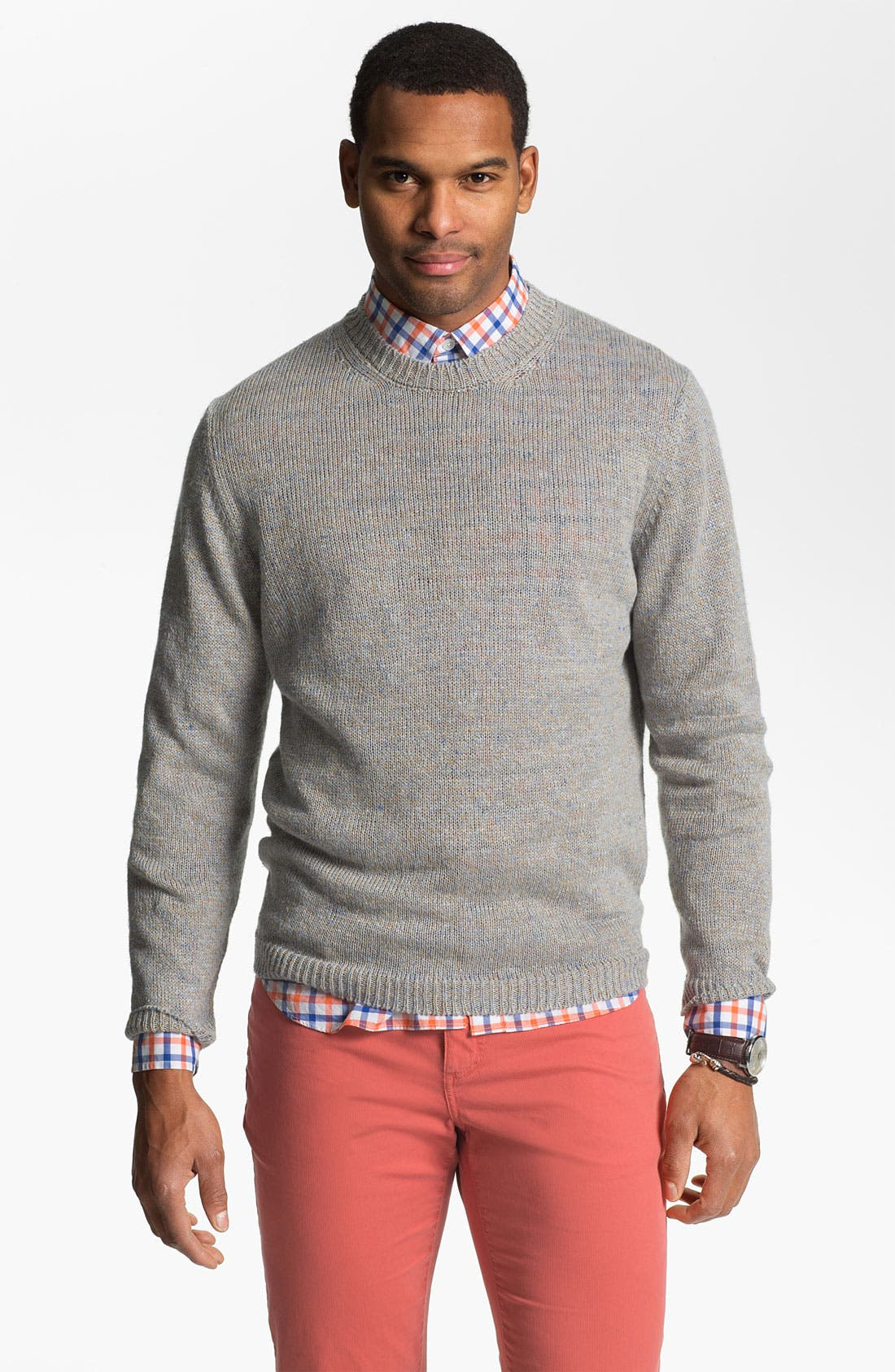 Main Image - Hickey Freeman 'Beach' Linen Blend Sweater