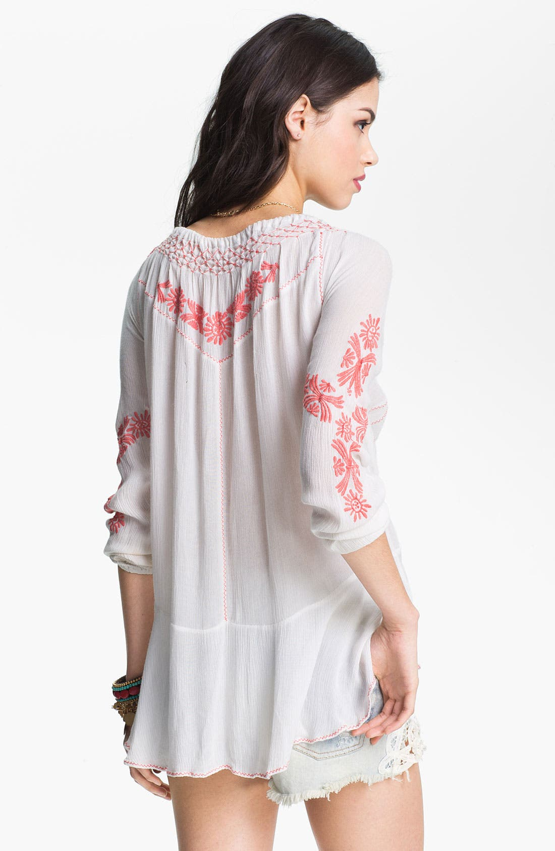 Alternate Image 2  - Free People Embroidered Peasant Top
