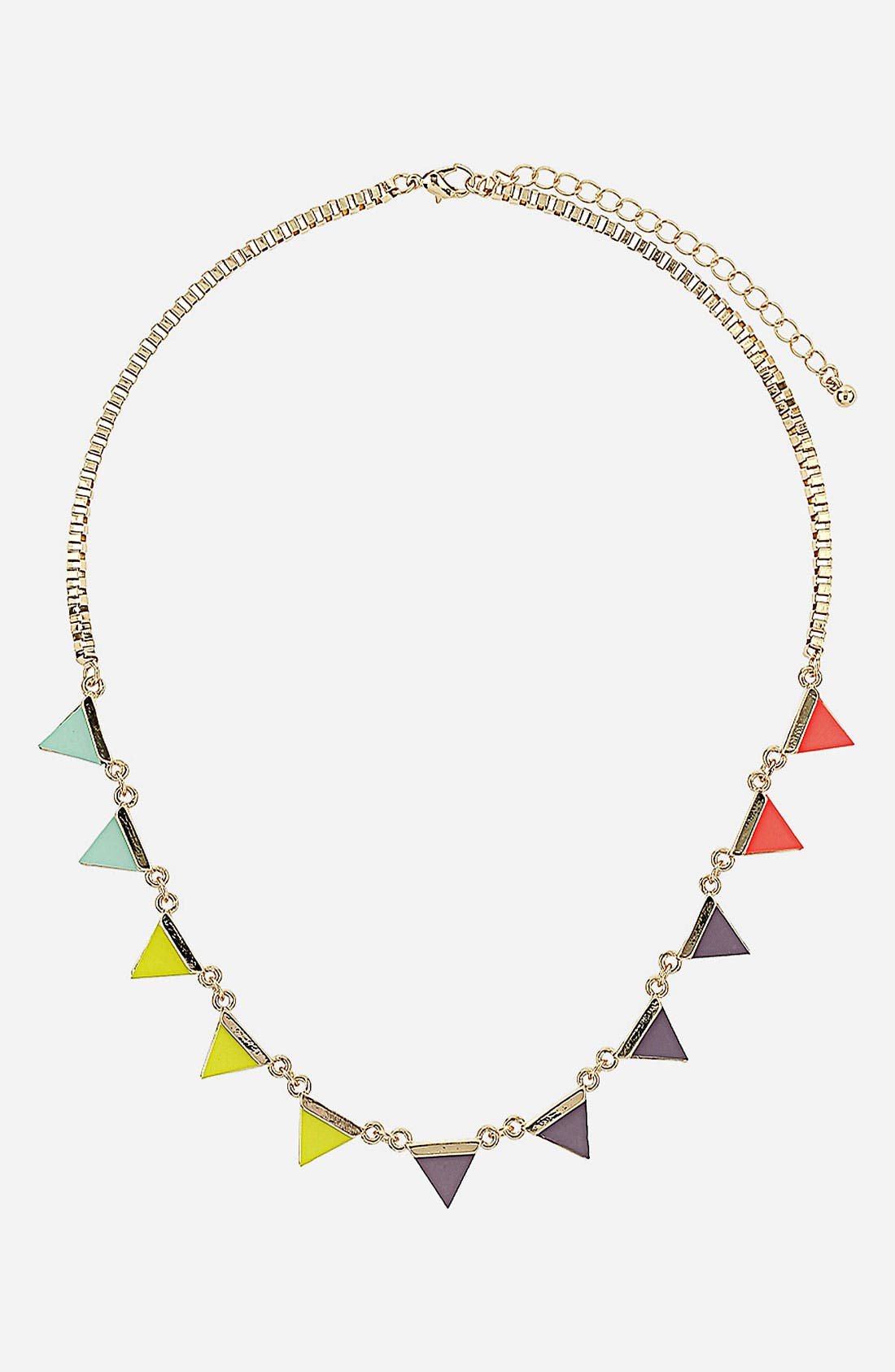 Main Image - Topshop 'Neon Bunting' Necklace