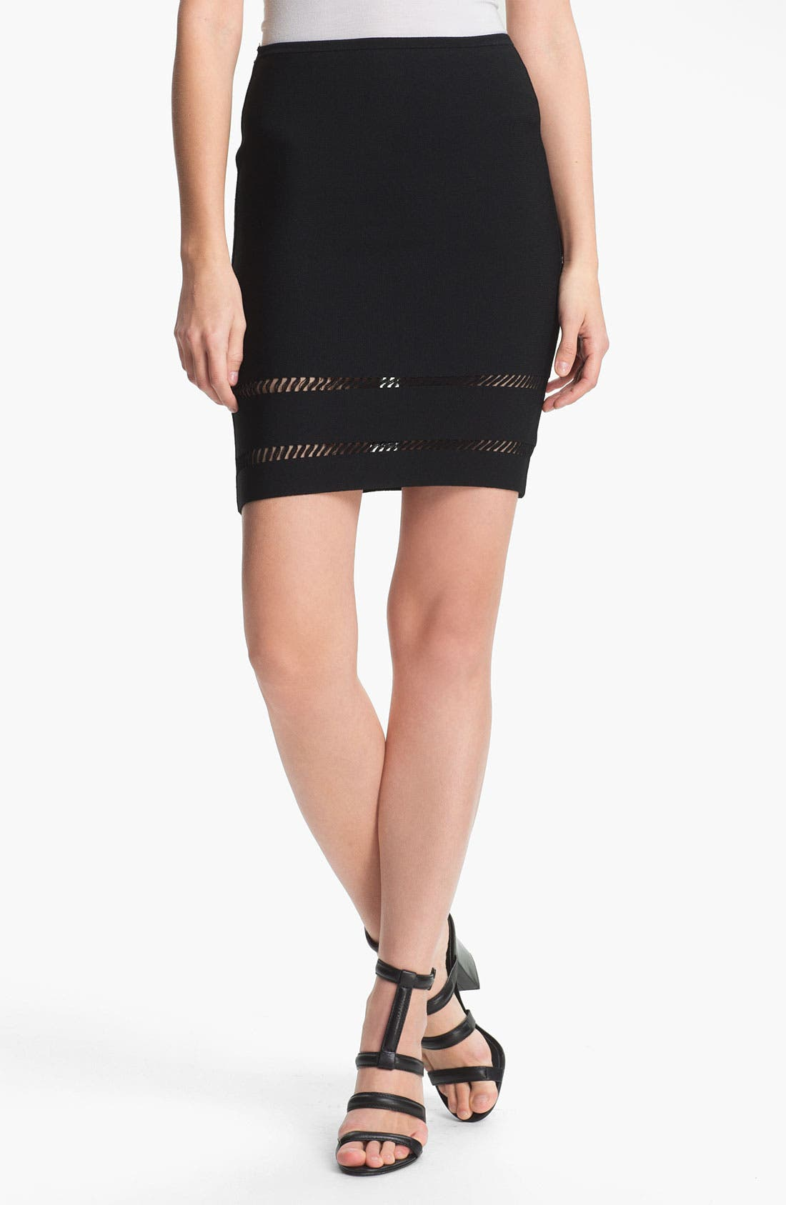 Main Image - Alexander Wang Suspension Detail Pencil Skirt