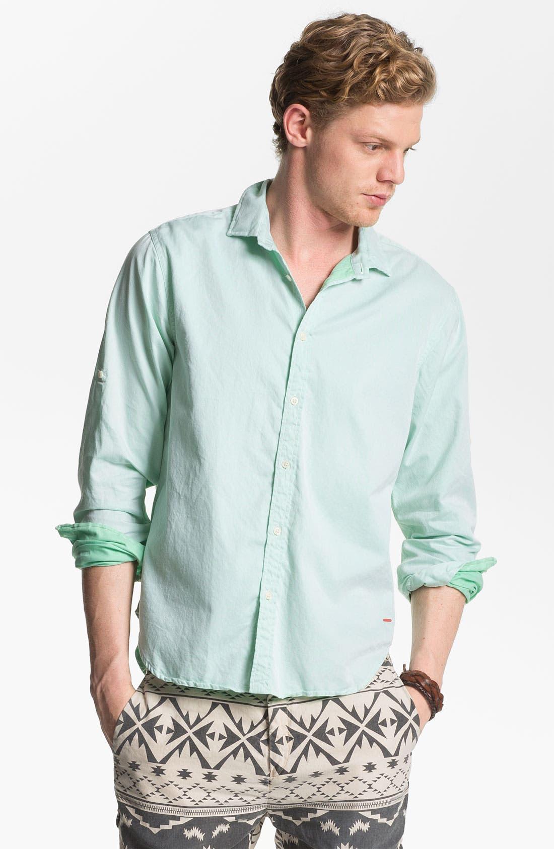 Alternate Image 1 Selected - Scotch & Soda Cotton Poplin Sport Shirt
