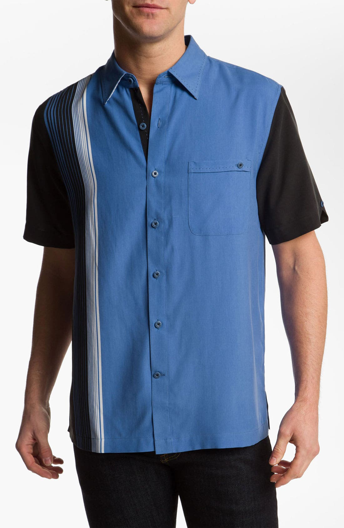Main Image - Nat Nast 'Straight Up' Silk Sport Shirt