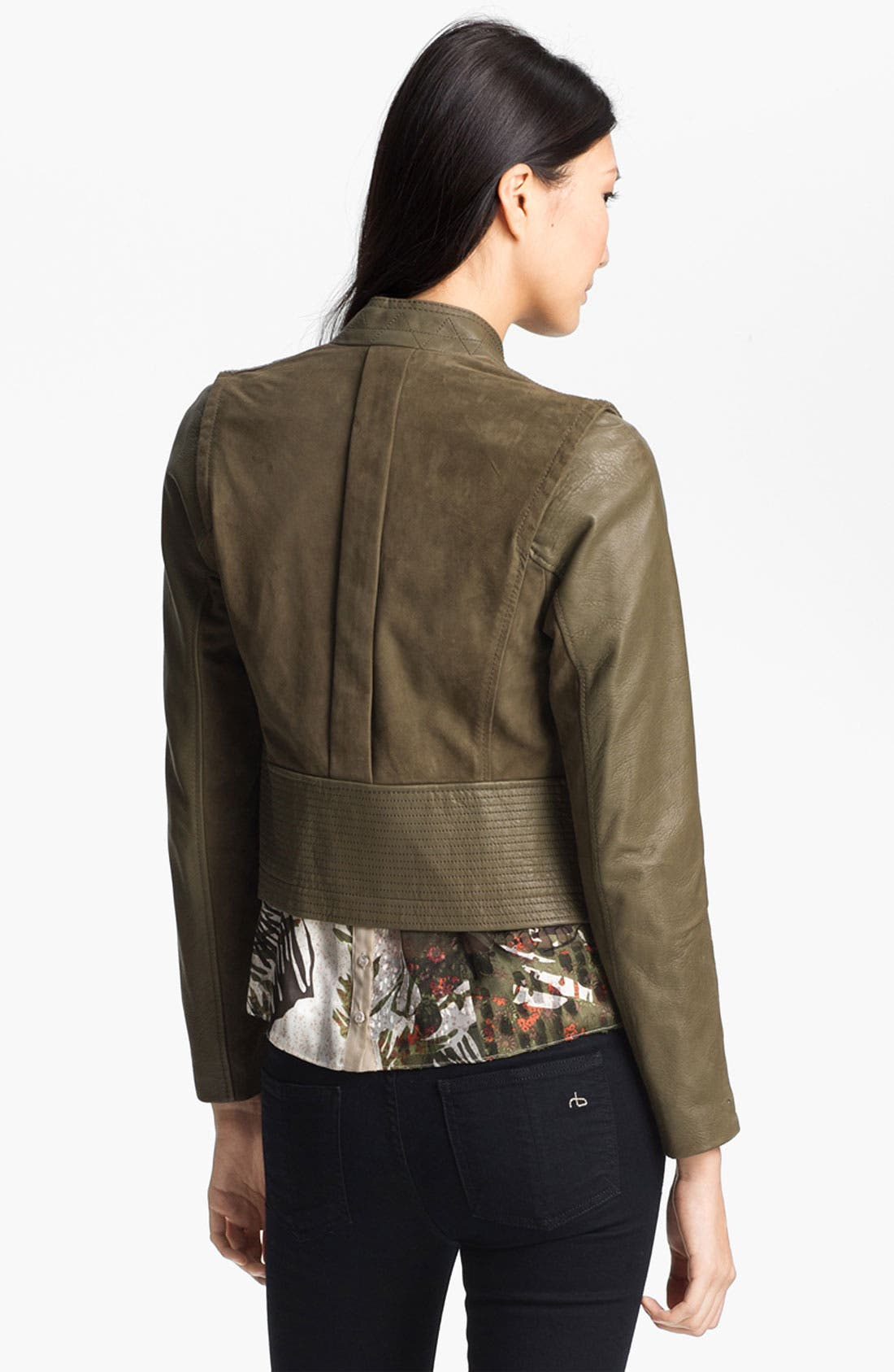 Alternate Image 4  - Edun Double Breasted Leather & Suede Jacket
