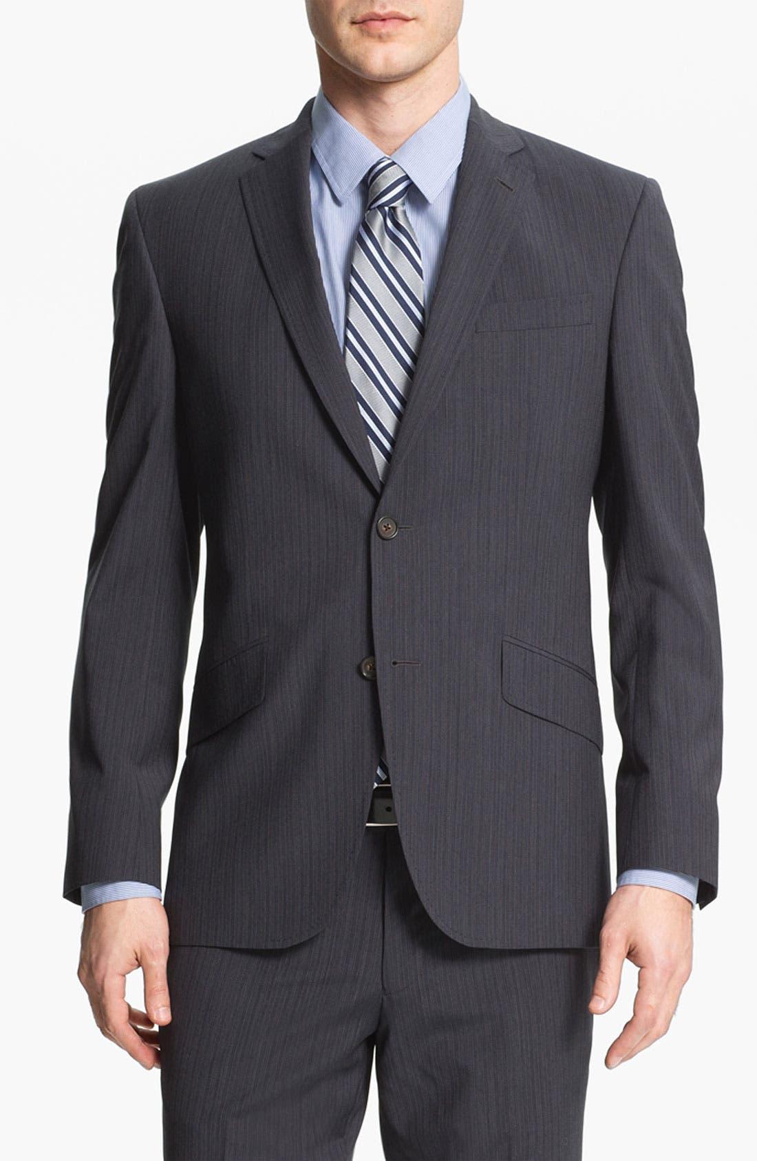 Alternate Image 1 Selected - Ted Baker London Trim Fit Stripe Suit