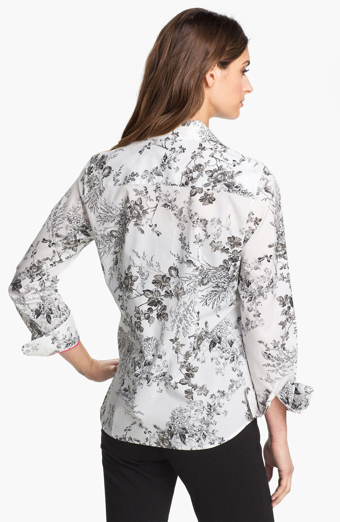 Alternate Image 2  - Foxcroft 'Wild Rose' Print Shirt (Petite)