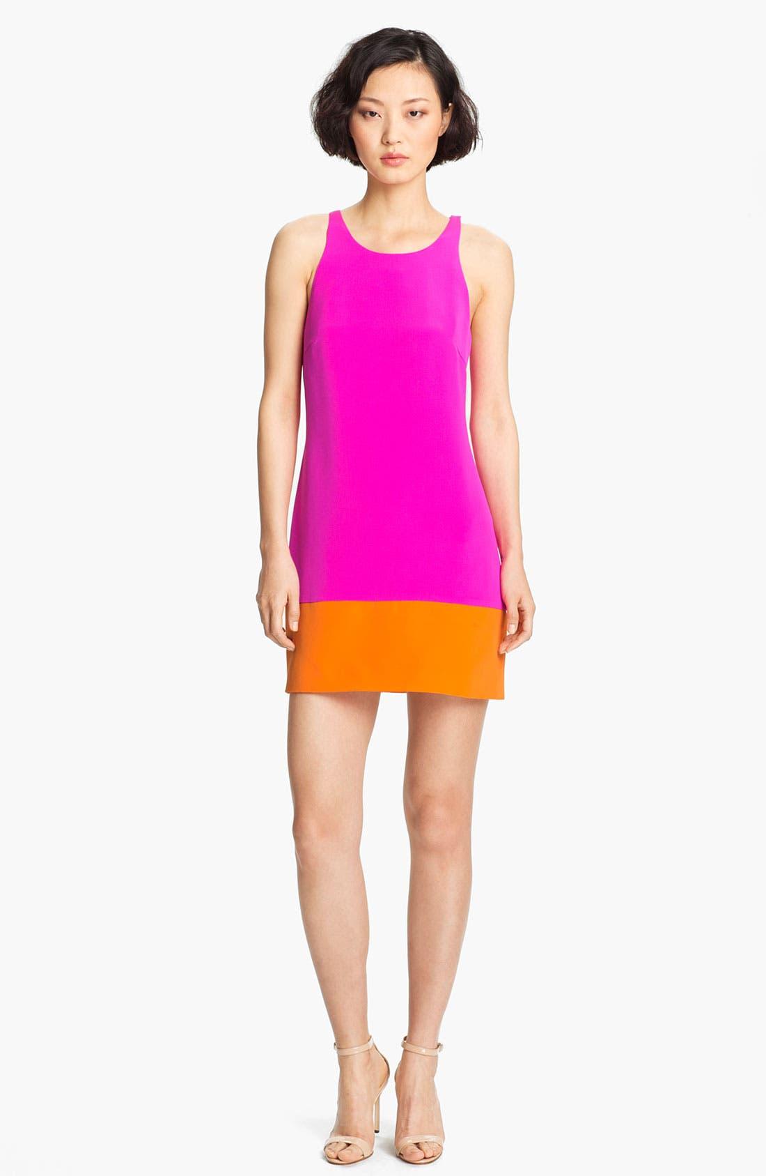Main Image - Jay Godfrey 'Aspin' Colorblock Silk Shift Dress