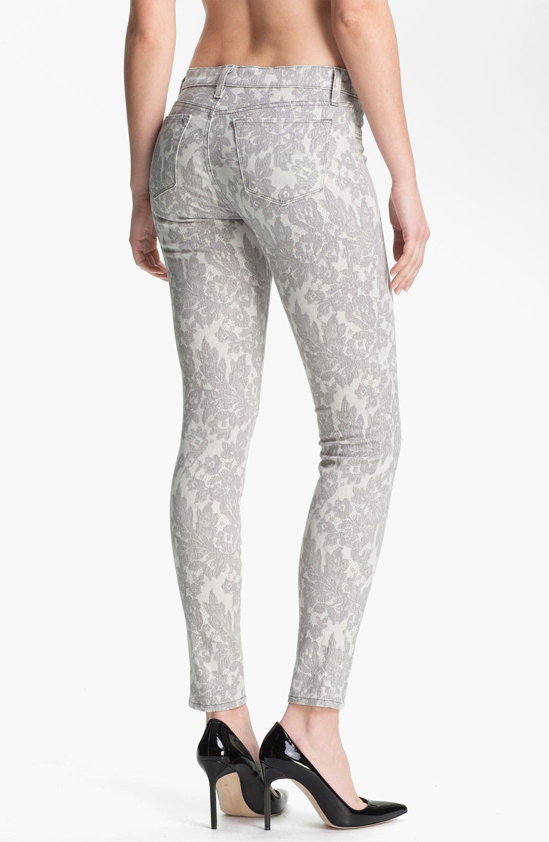 Alternate Image 2  - J Brand Print Skinny Leg Jeans (All Over Lace)