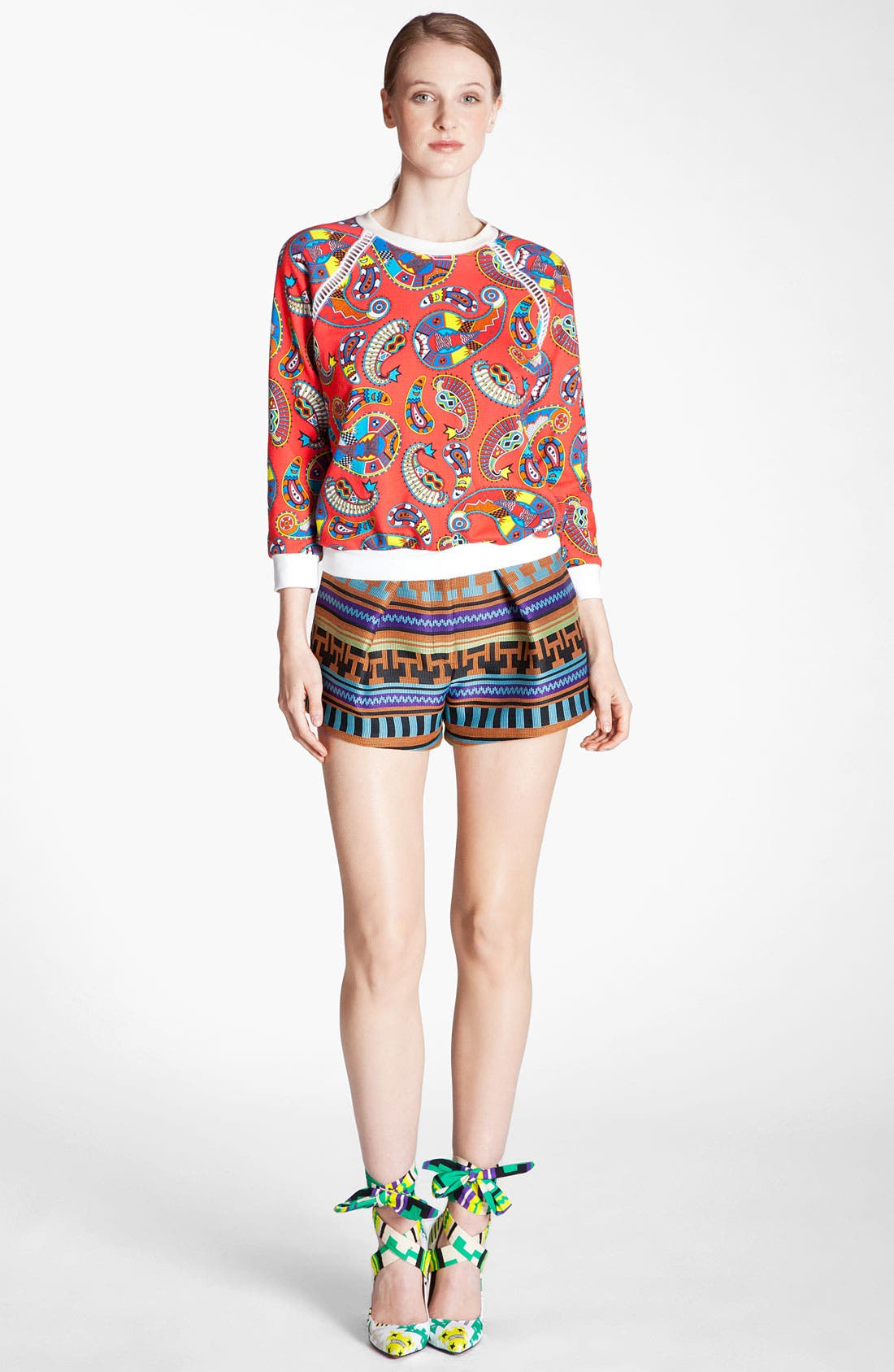 Alternate Image 3  - MSGM Ikat Print Jacquard Shorts