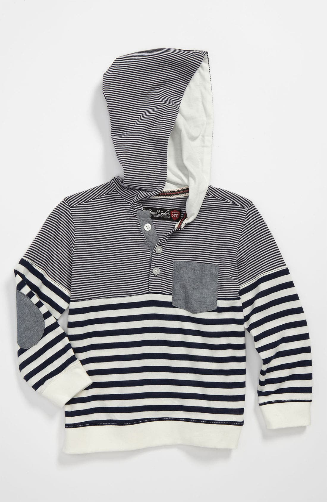 Alternate Image 1 Selected - Sovereign Code Stripe Hoodie (Toddler)