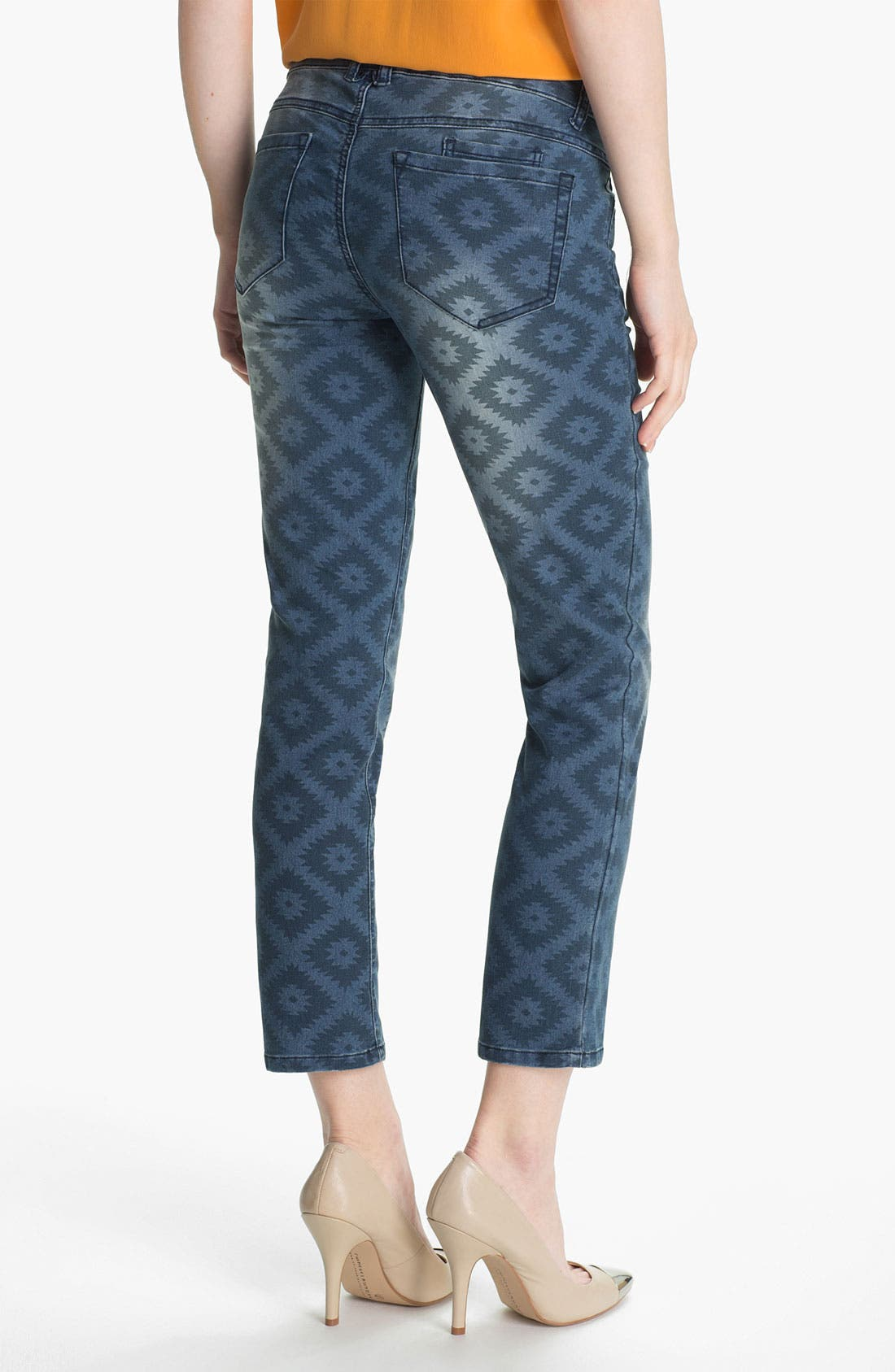Alternate Image 2  - Wit & Wisdom Aztec Print Ankle Jeans (Nordstrom Exclusive)