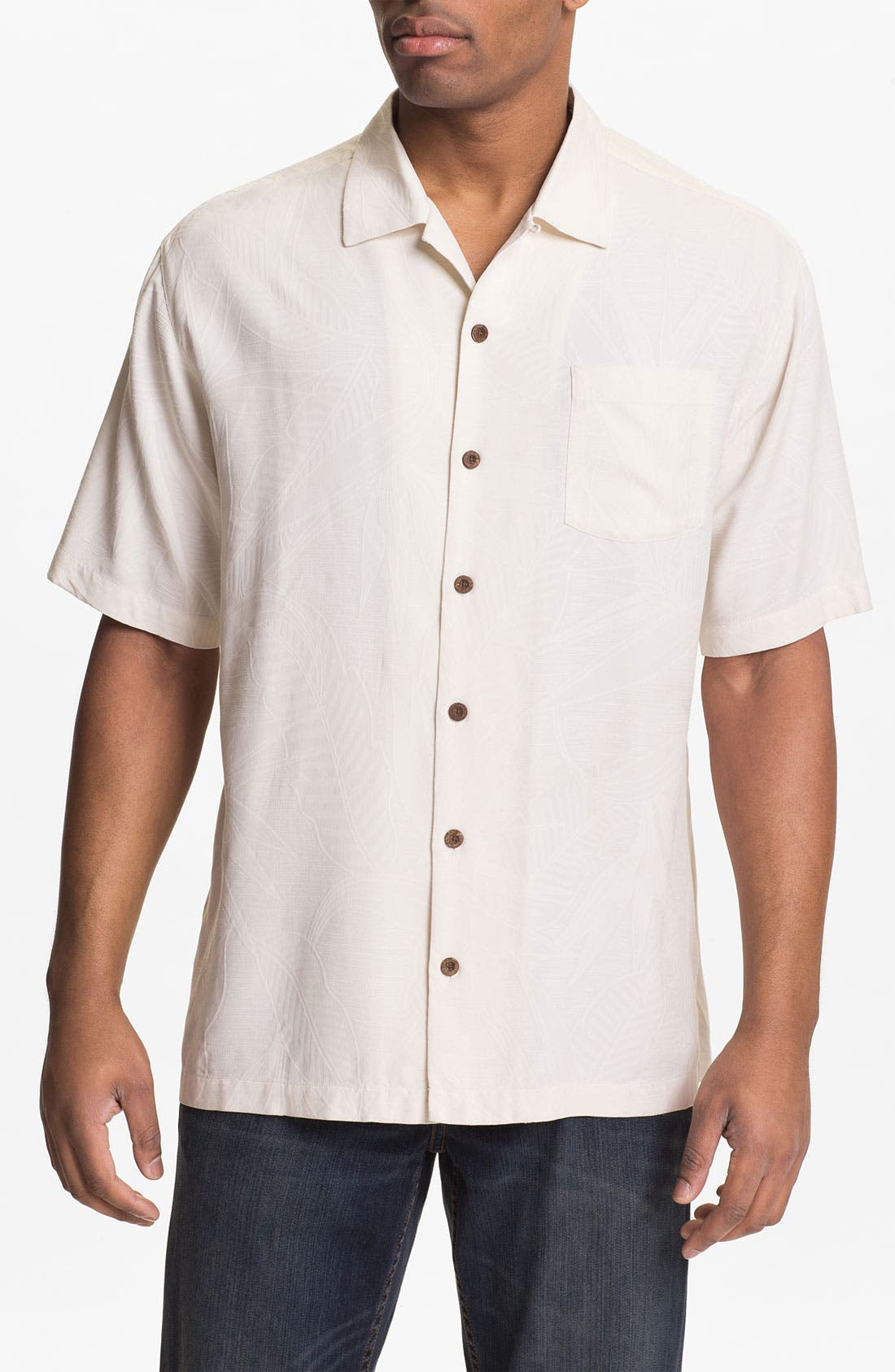 Alternate Image 1 Selected - Tommy Bahama 'Bird It Through the Grapevine' Campshirt (Big & Tall)