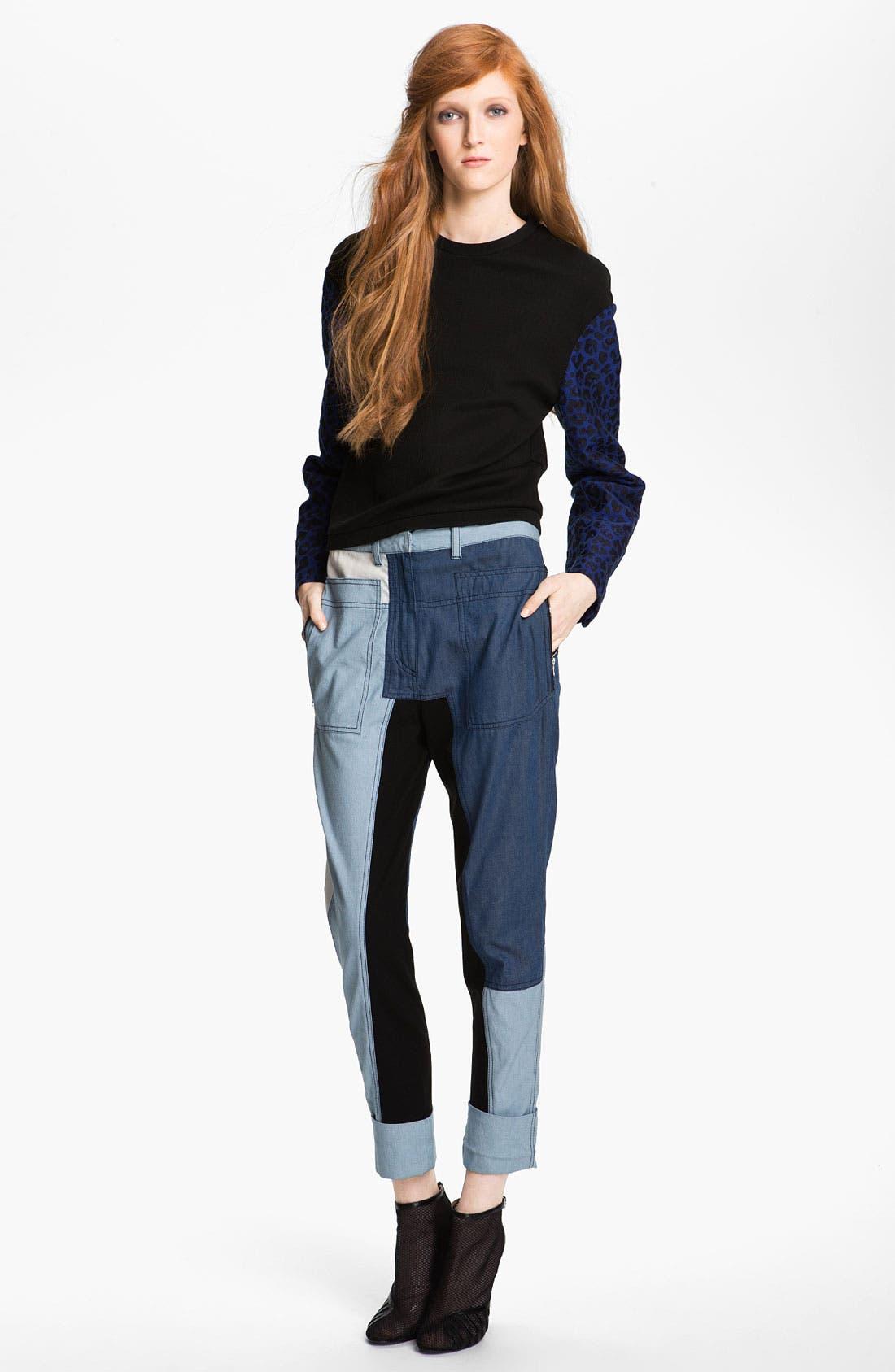 Main Image - 3.1 Phillip Lim Print Sleeve Sweatshirt