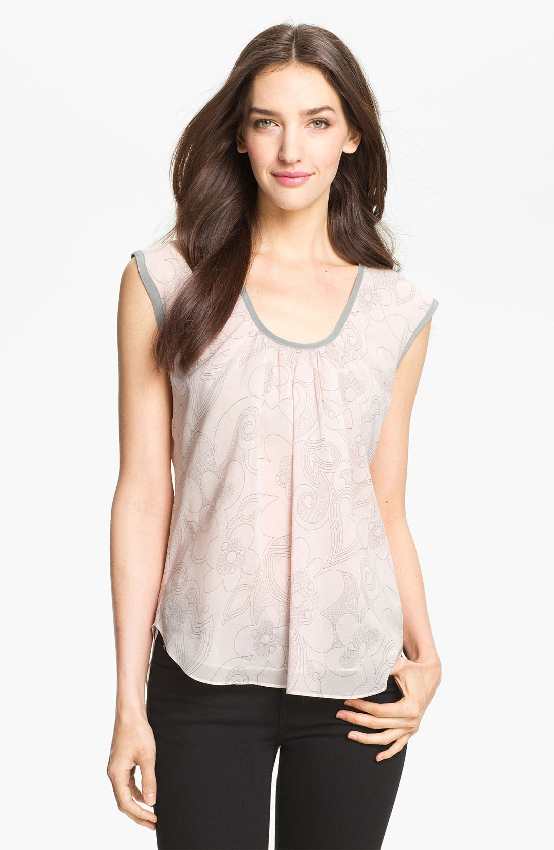 Main Image - Milly Stretch Silk Top