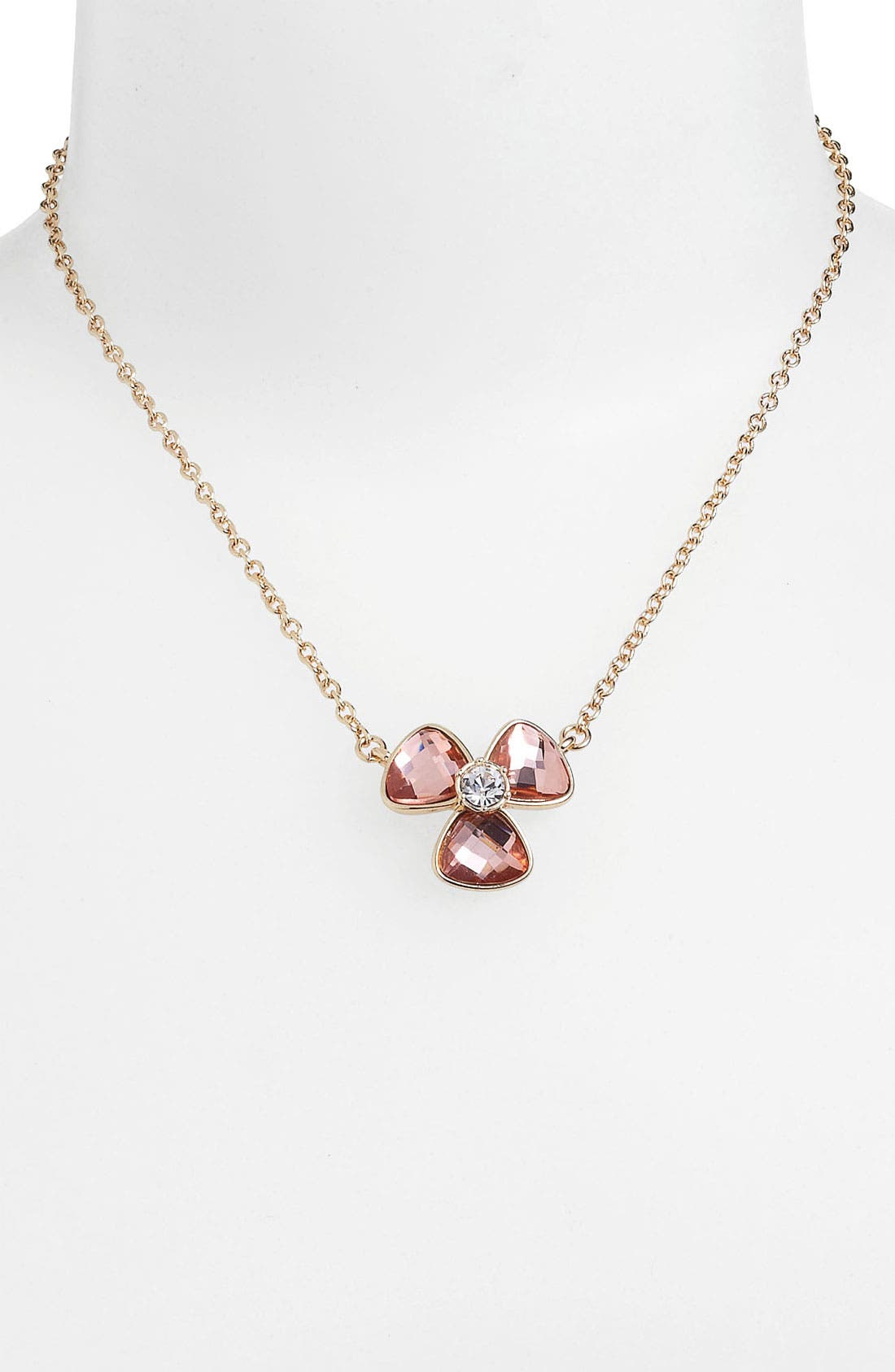 Alternate Image 2  - Anne Klein Floral Pendant Necklace