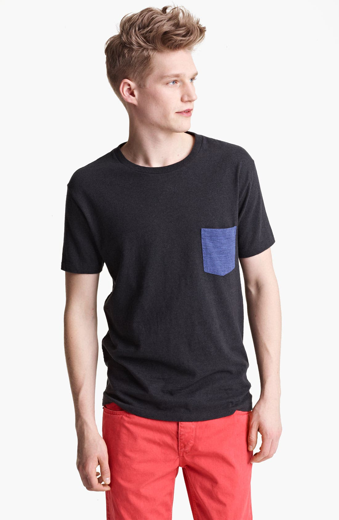 Main Image - rag & bone Color Block Crewneck T-Shirt