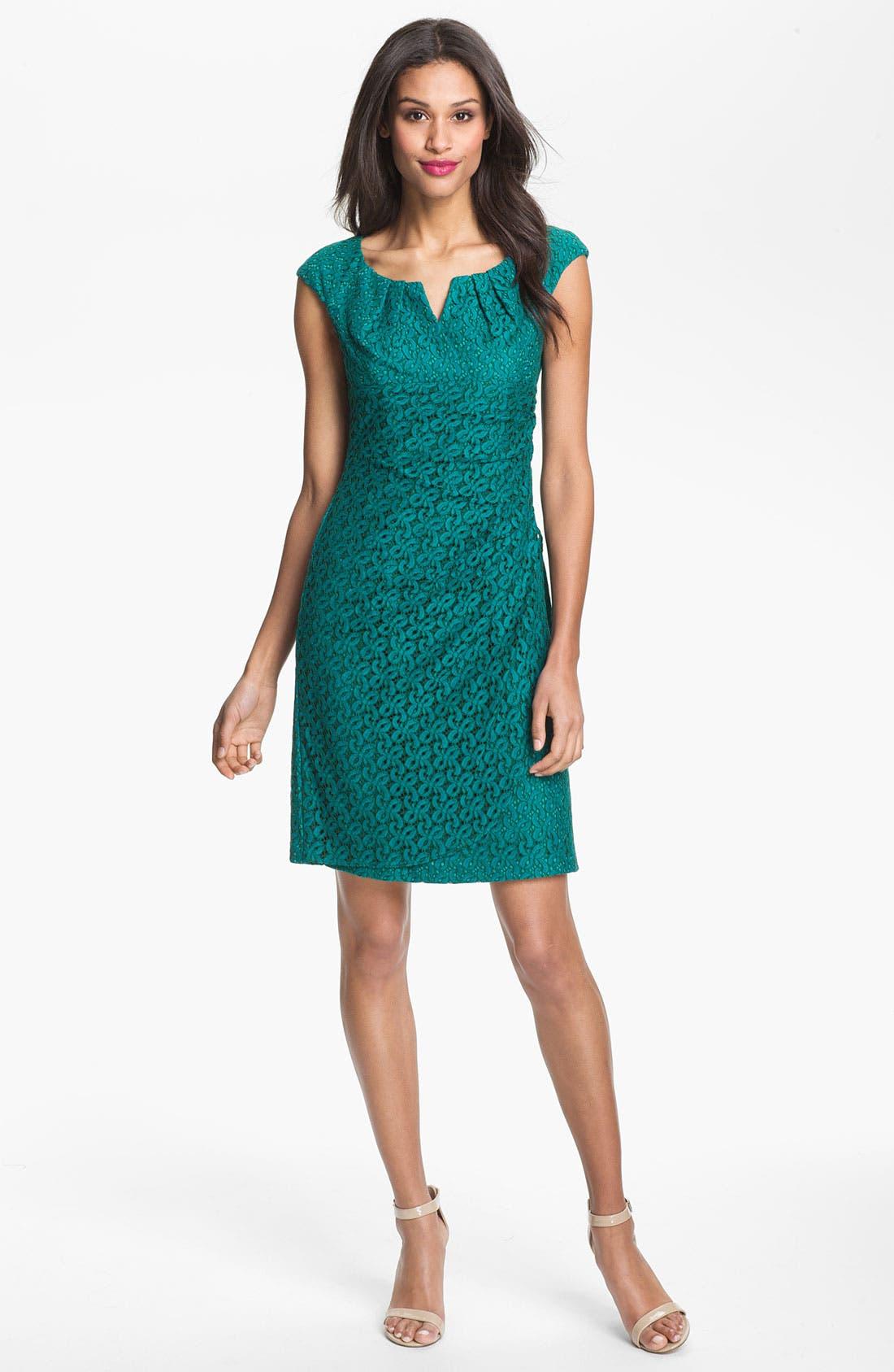 Main Image - Adrianna Papell Lace Sheath Dress