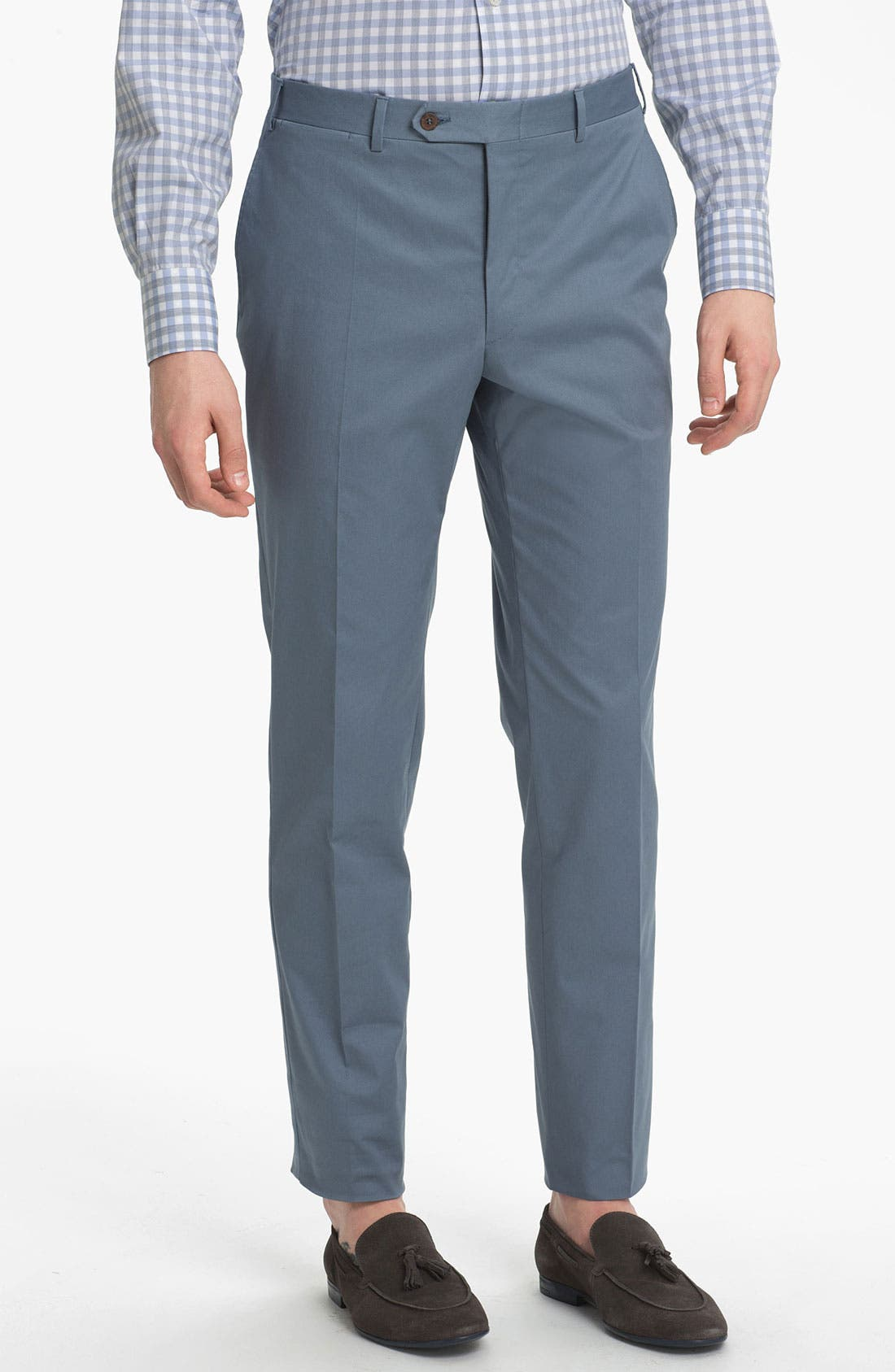 Main Image - Canali Flat Front Trousers