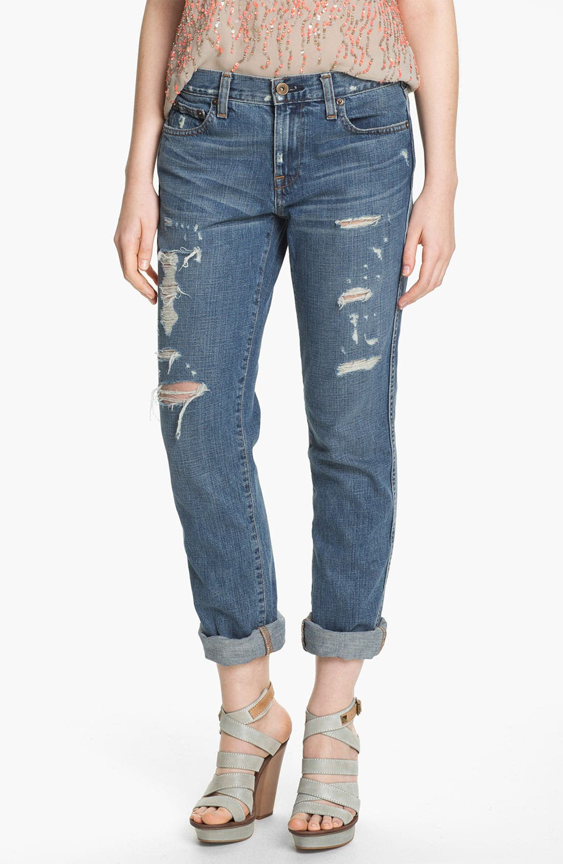 Main Image - Two by Vince Camuto Destroyed Boyfriend Jeans
