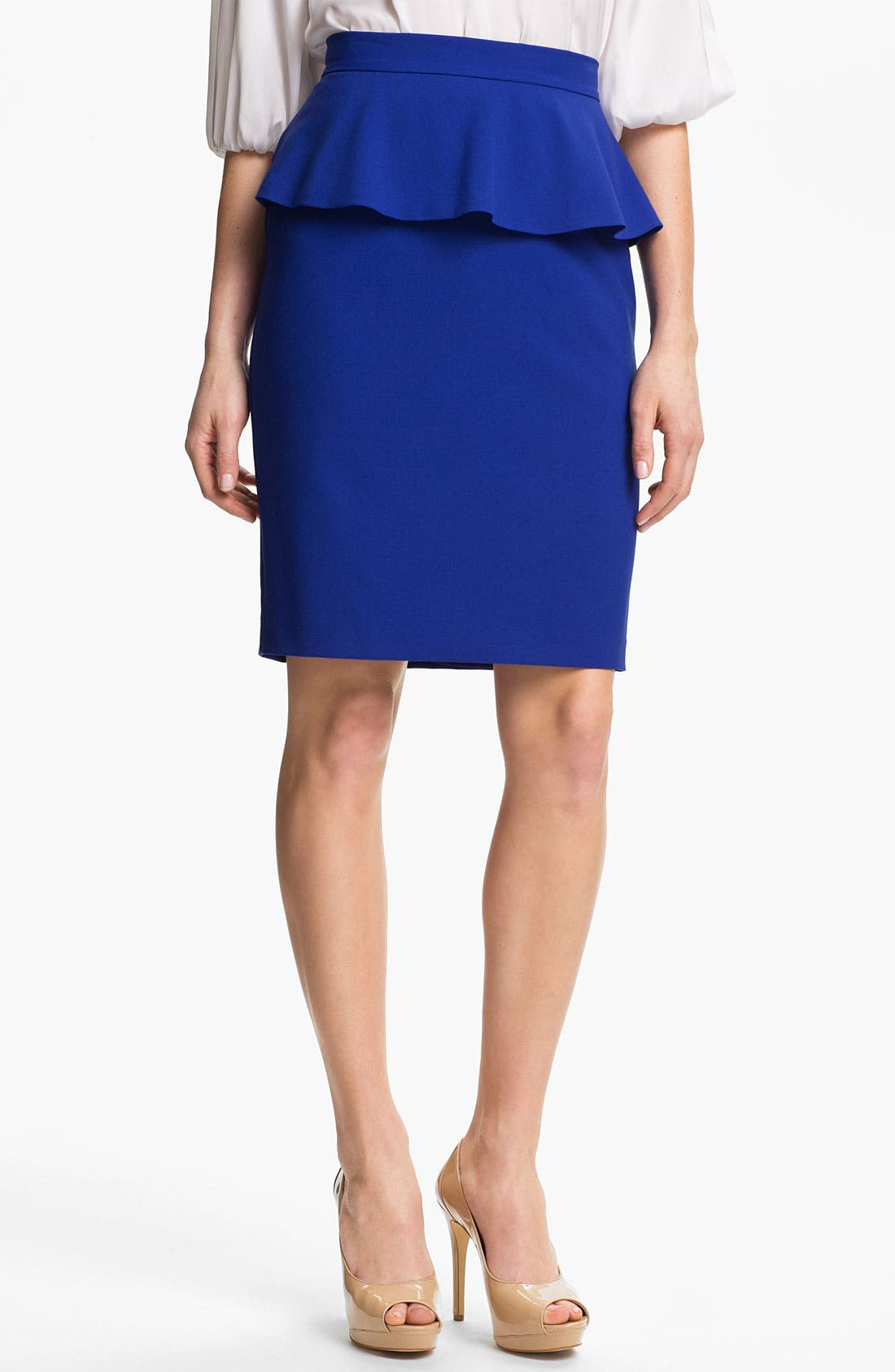 Alternate Image 1 Selected - Vince Camuto Peplum Pencil Skirt
