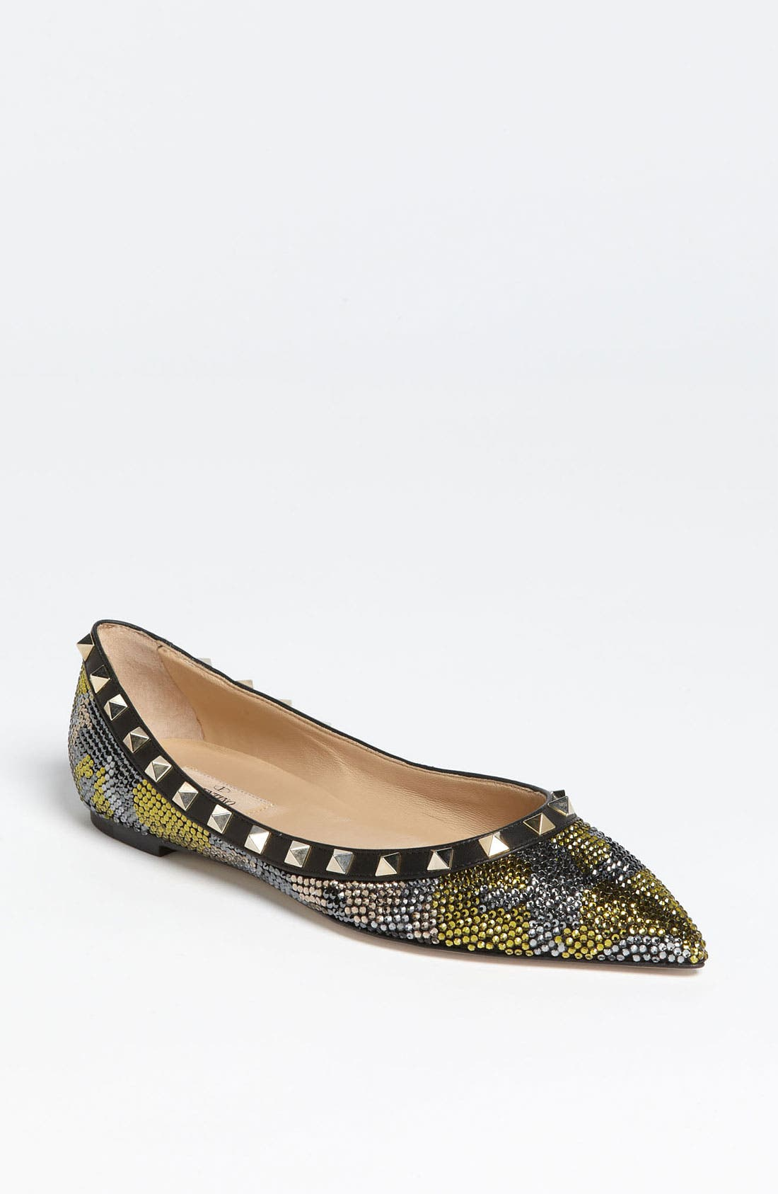 Alternate Image 1 Selected - Valentino 'Camo Rockstud' Flat